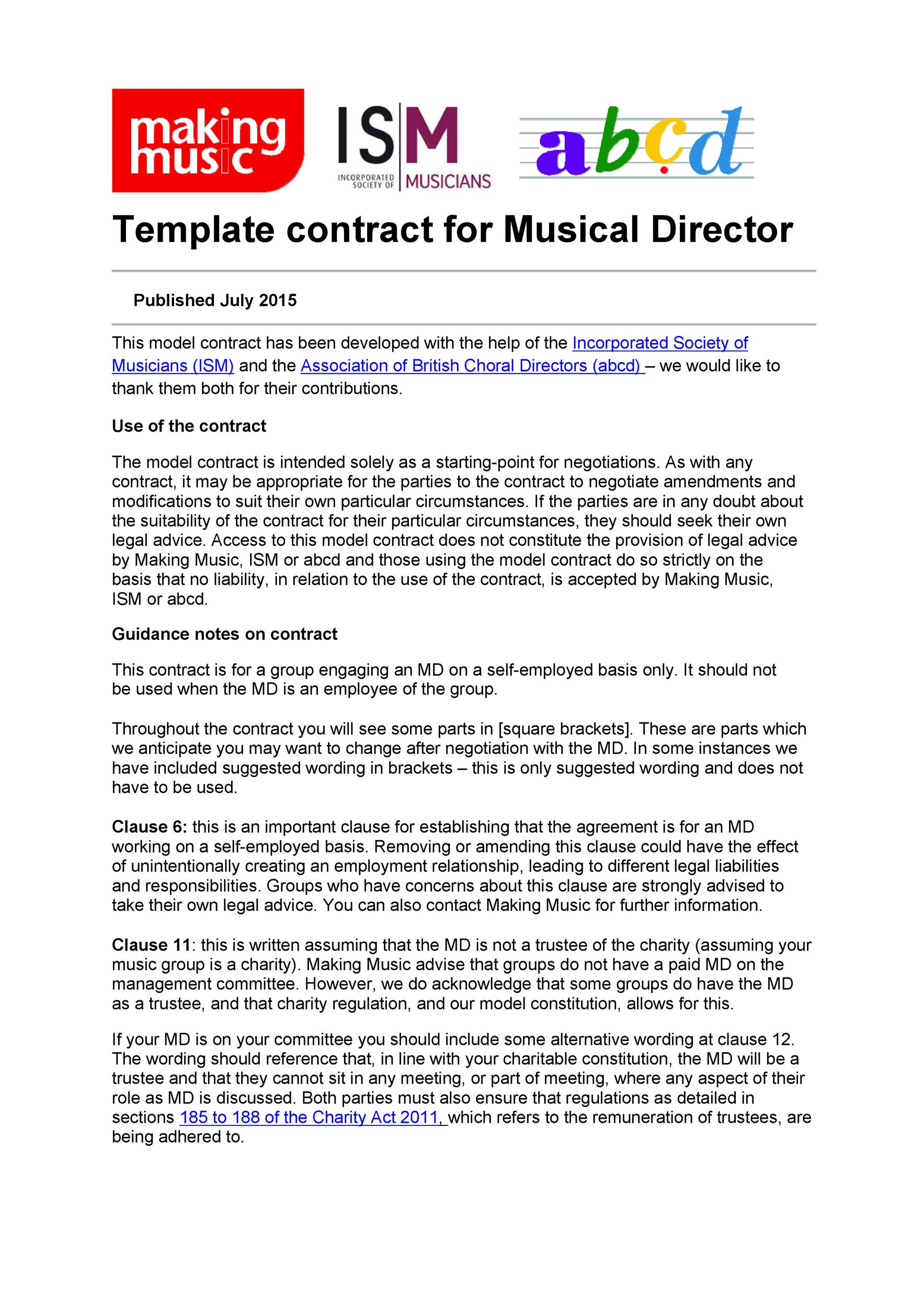Free artist management contract 16