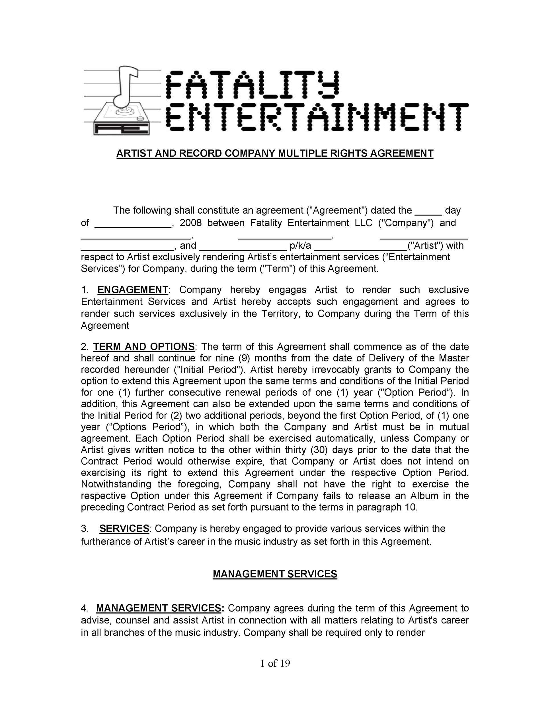 Free artist management contract 18