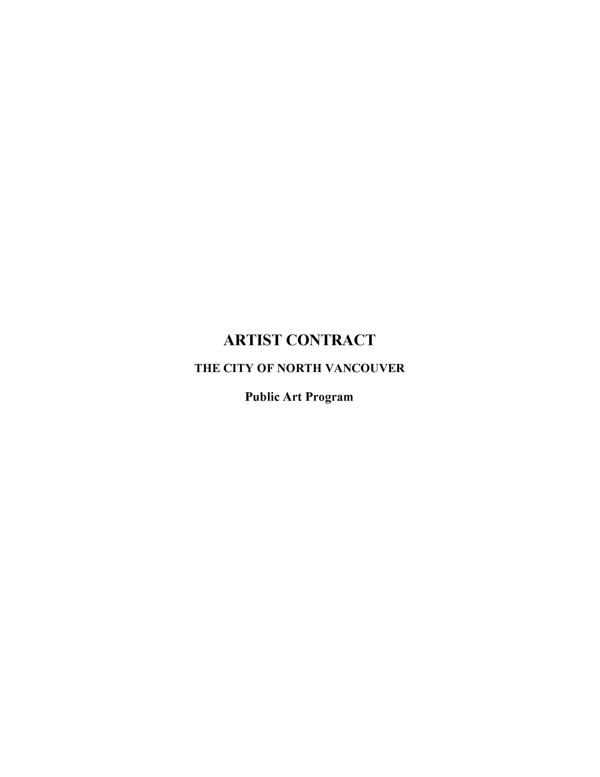 Free artist management contract 30