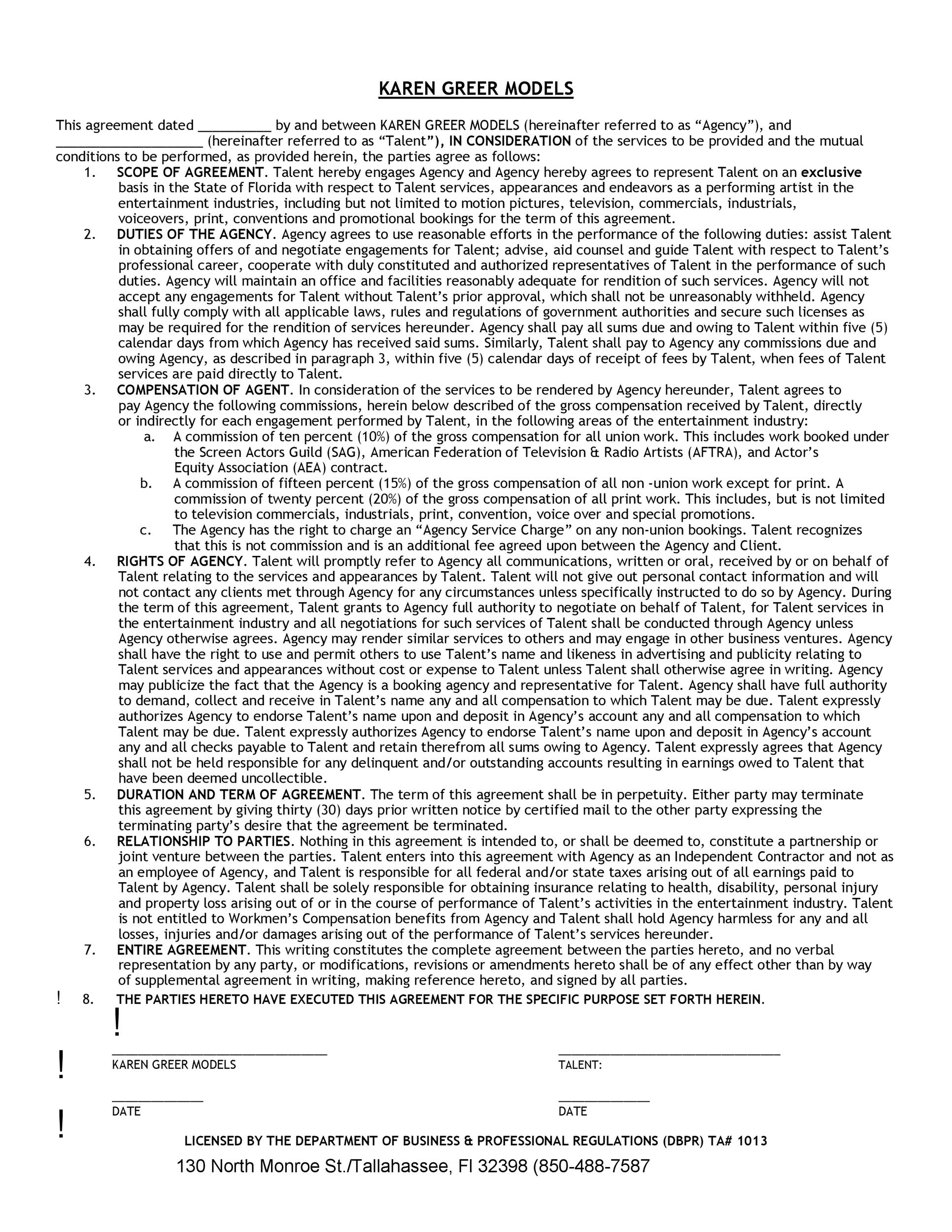 Free artist management contract 34