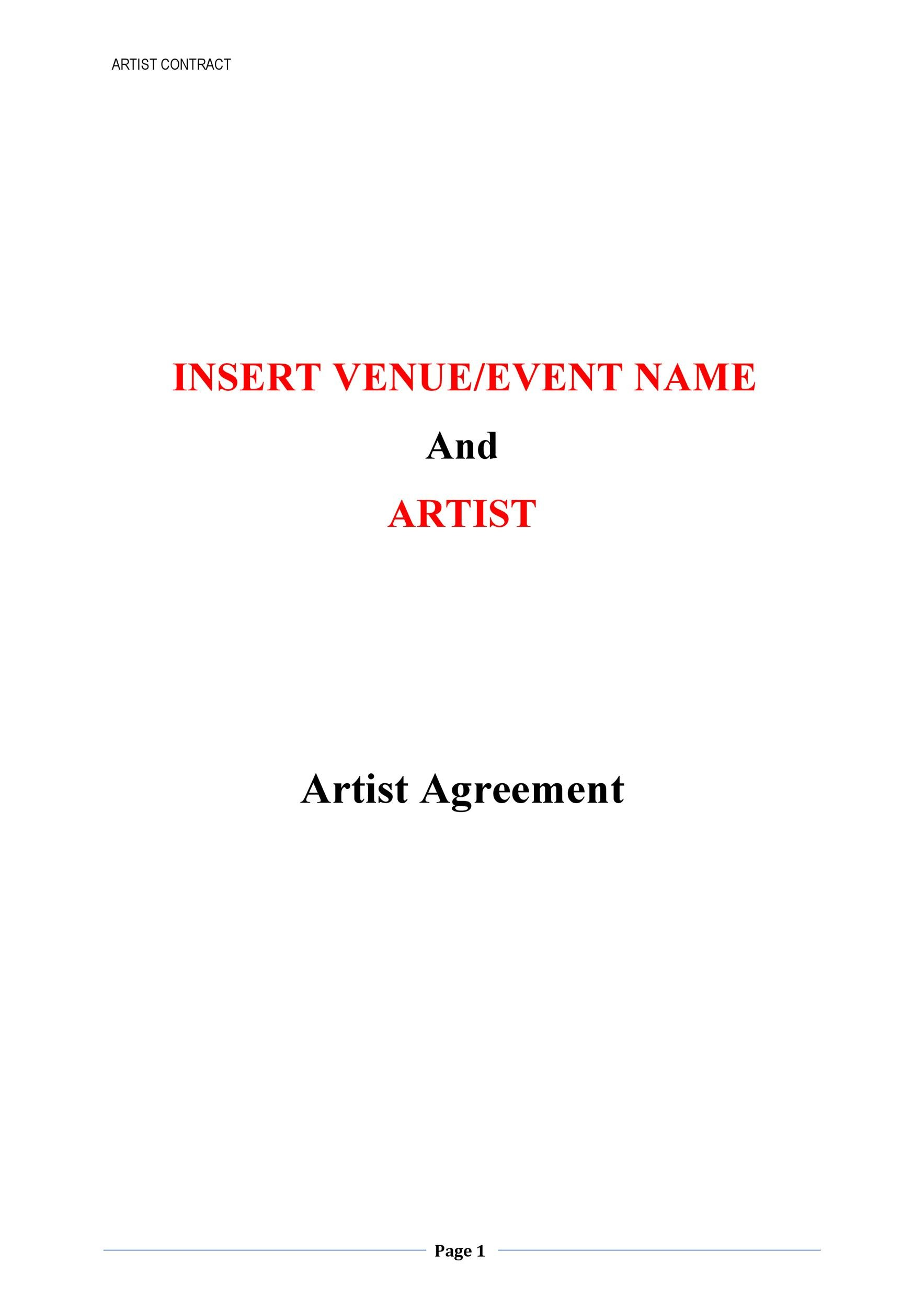 Free artist management contract 37