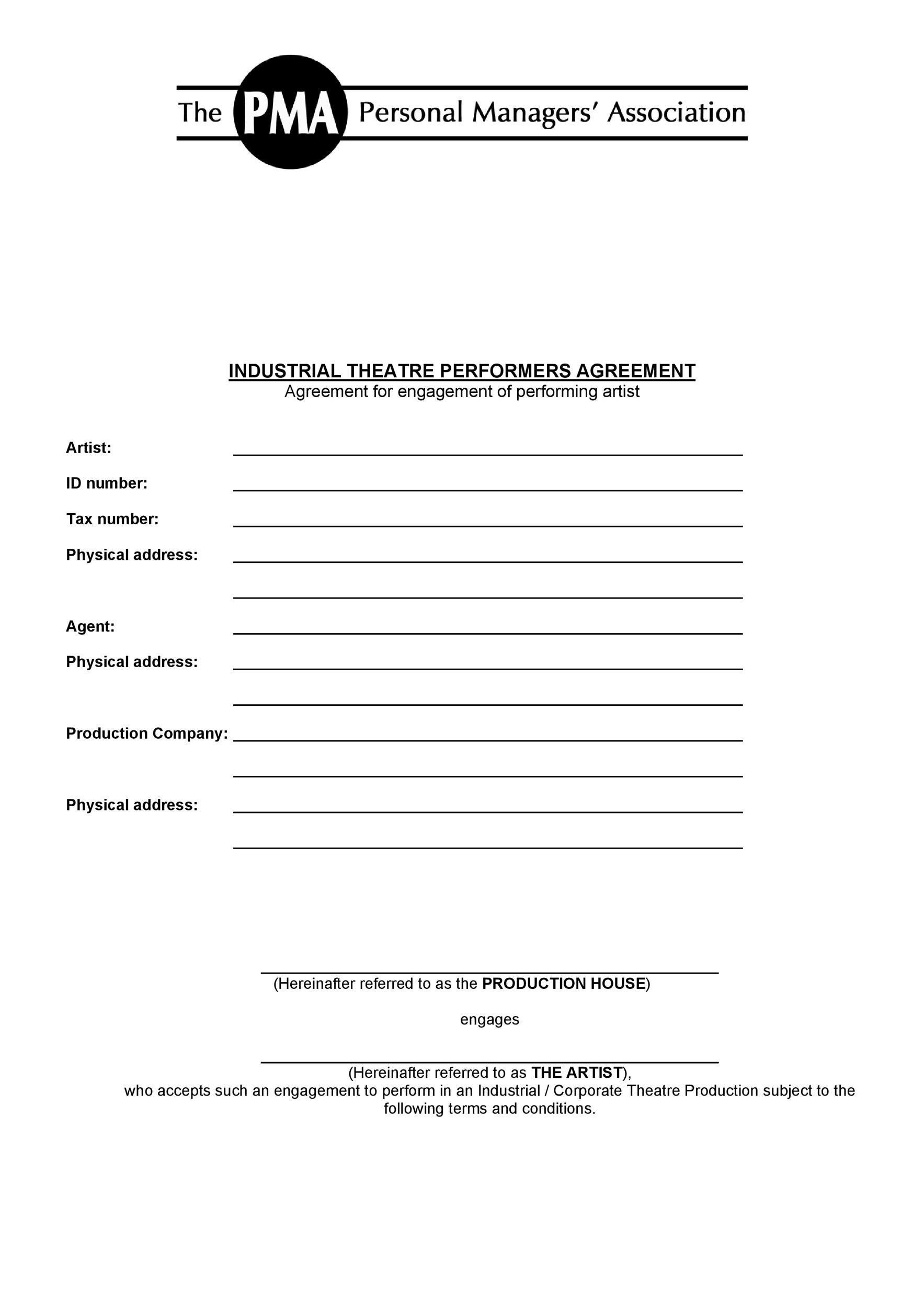 Free artist management contract 39