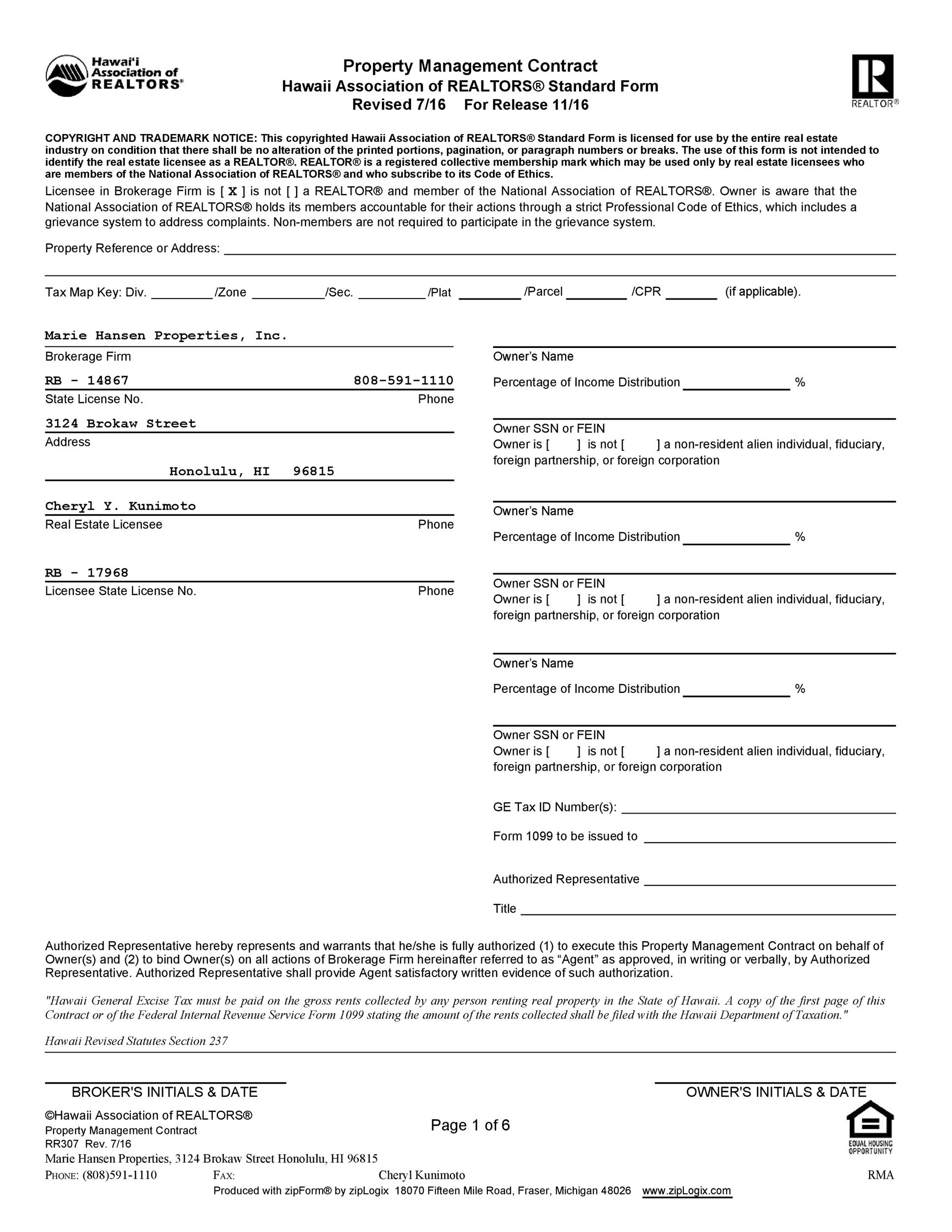 Free artist management contract 50