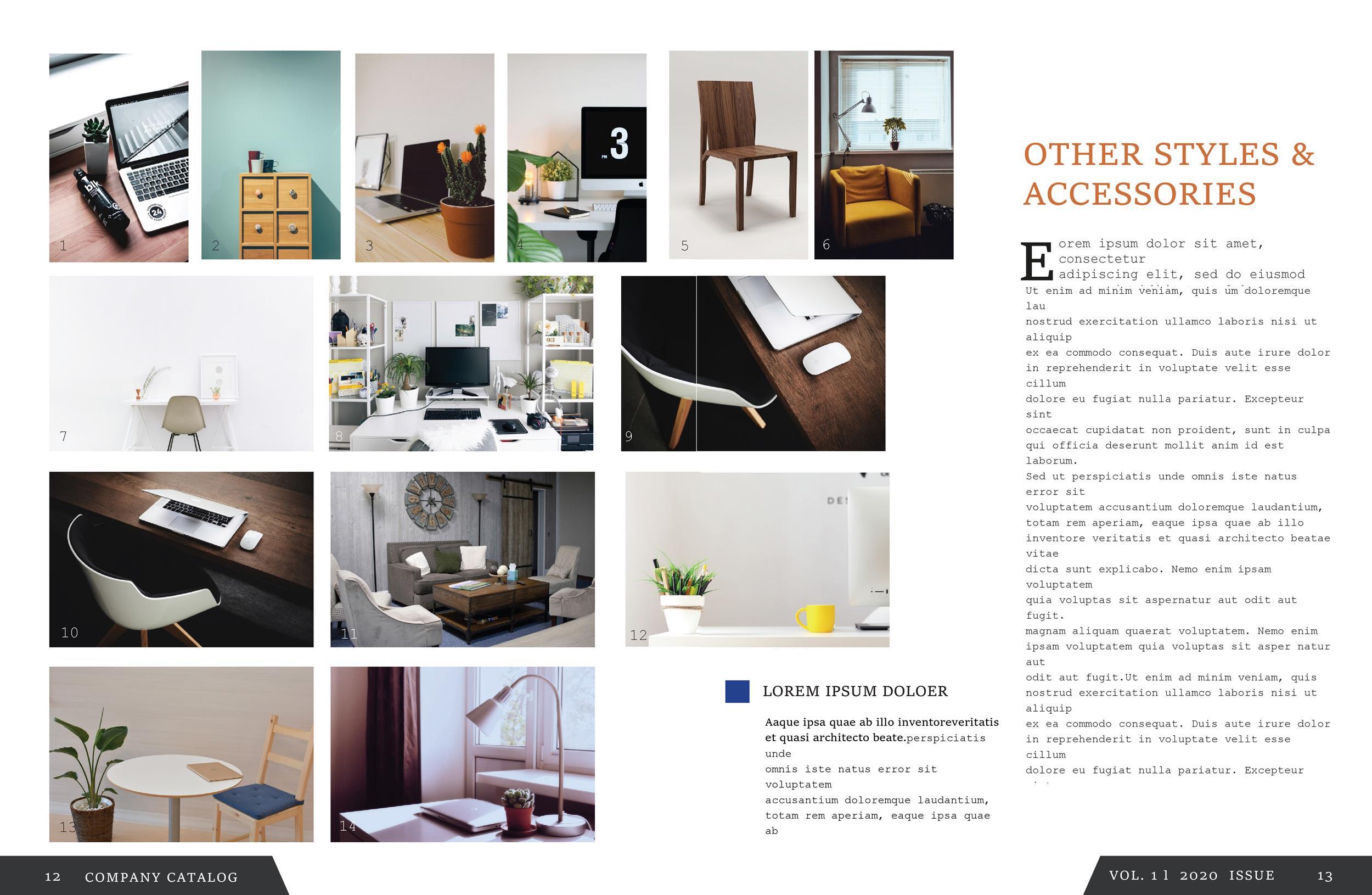 Free catalog template 08
