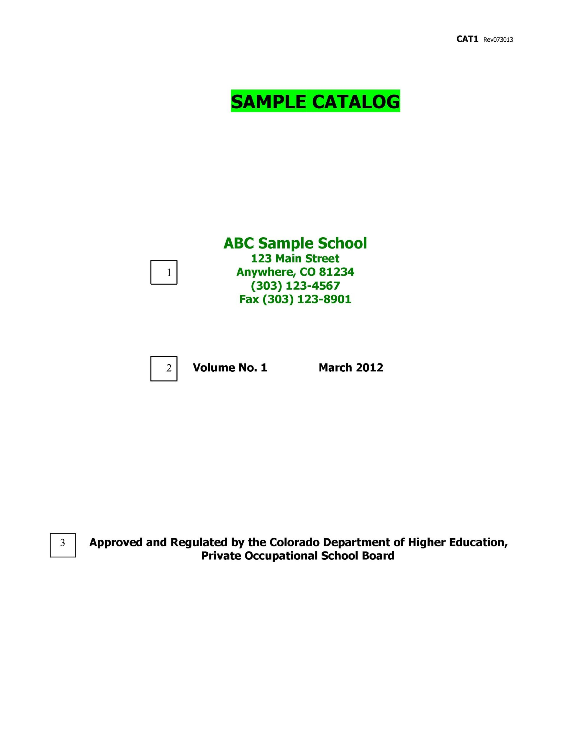 Free catalog template 18