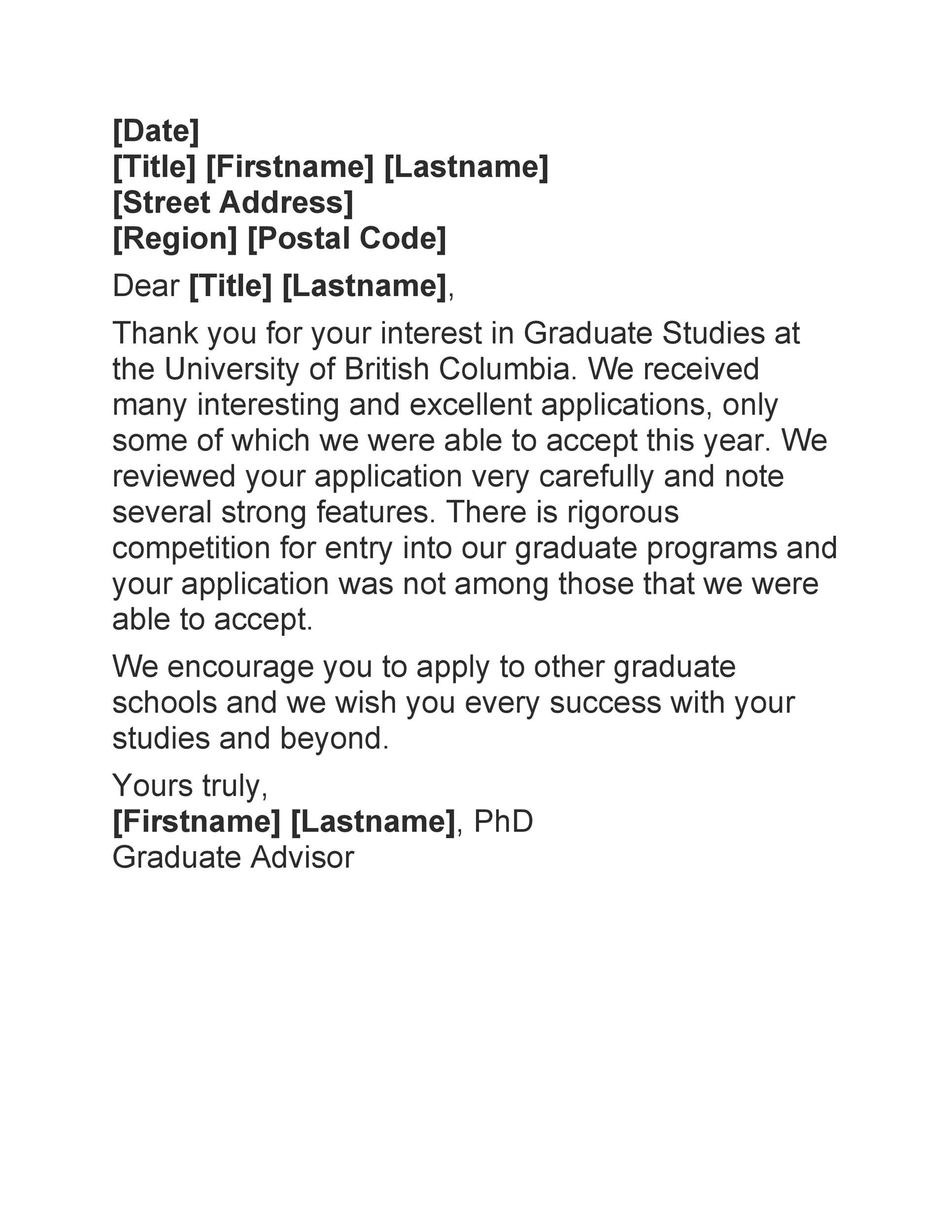 Free college rejection letter 21