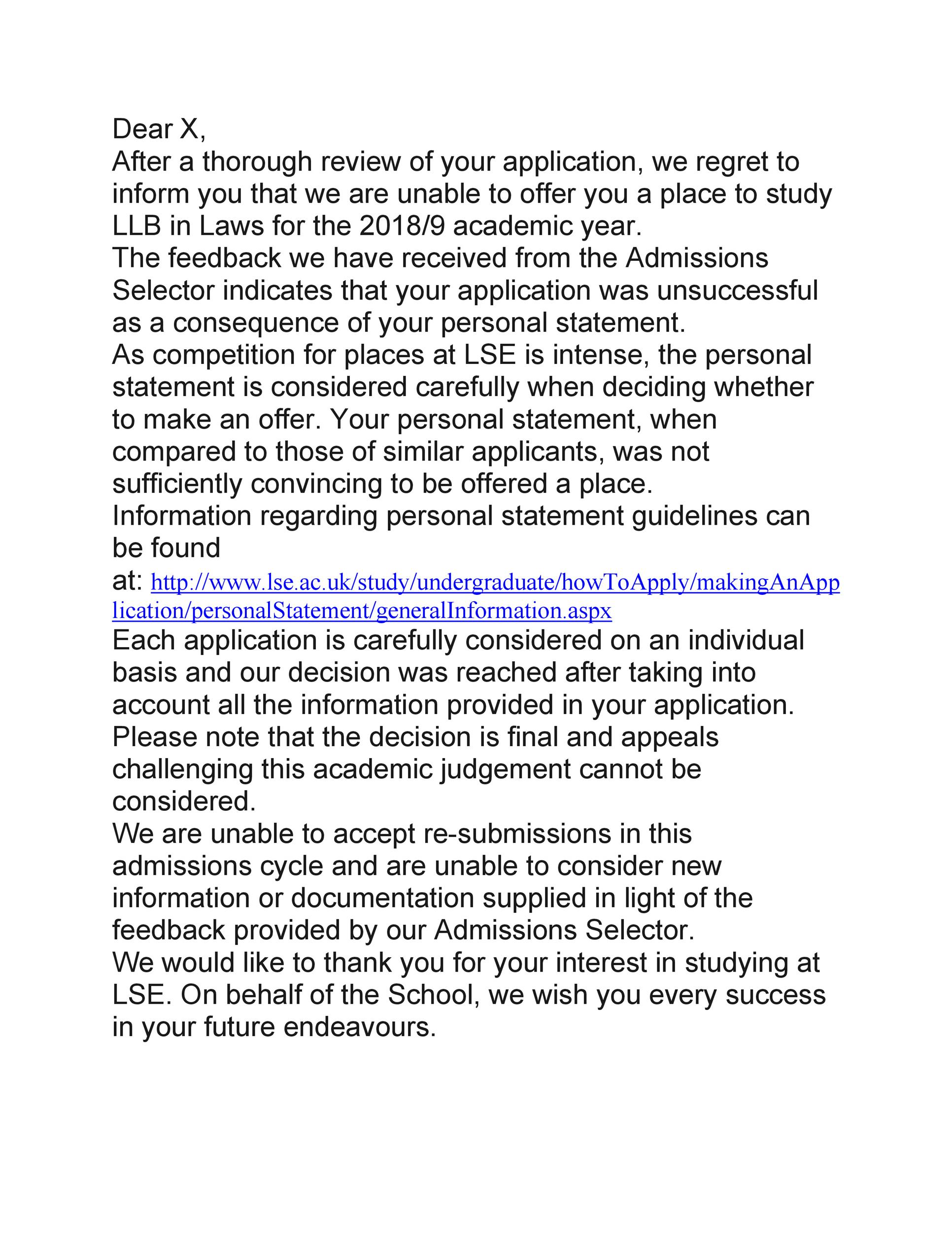 Free college rejection letter 27