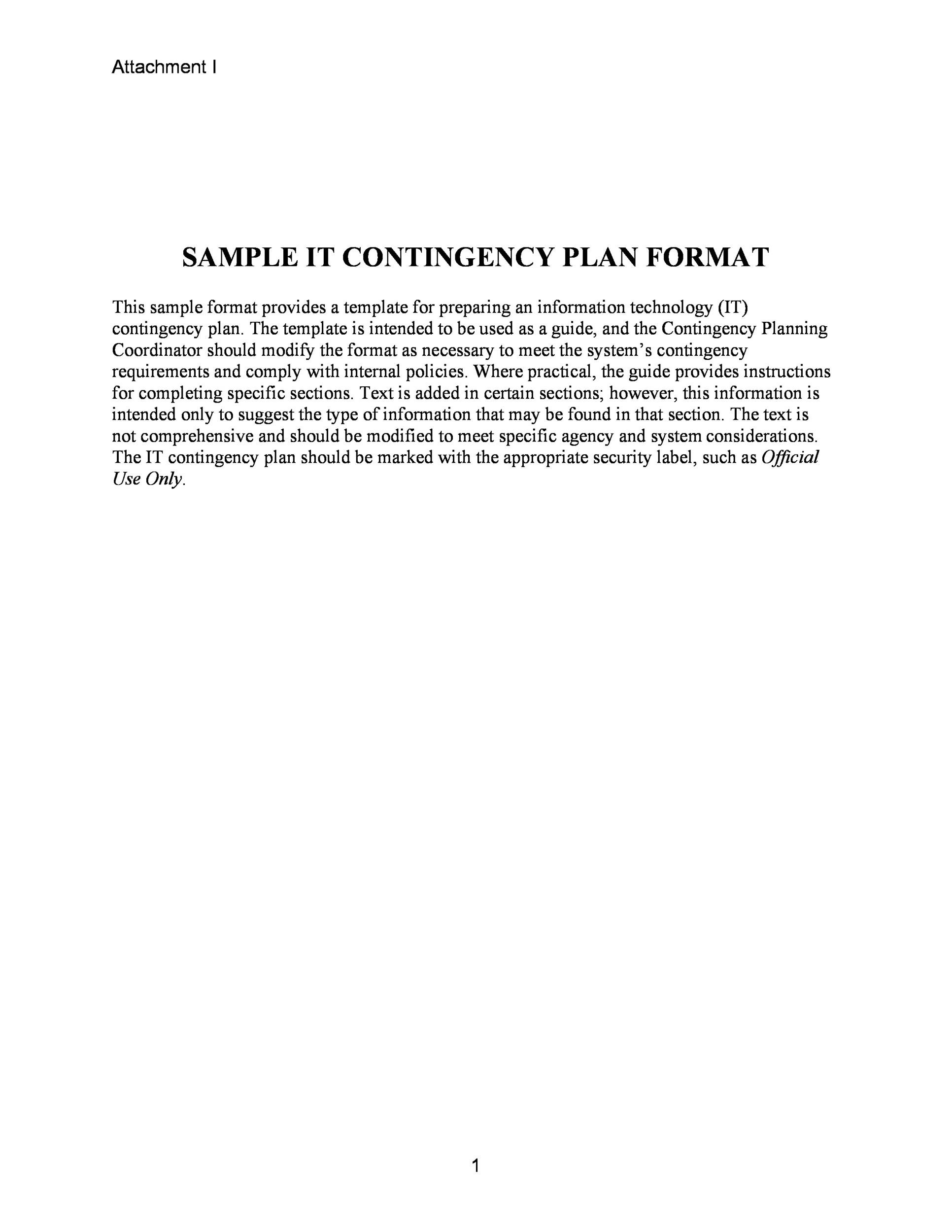 Free contingency plan template 07