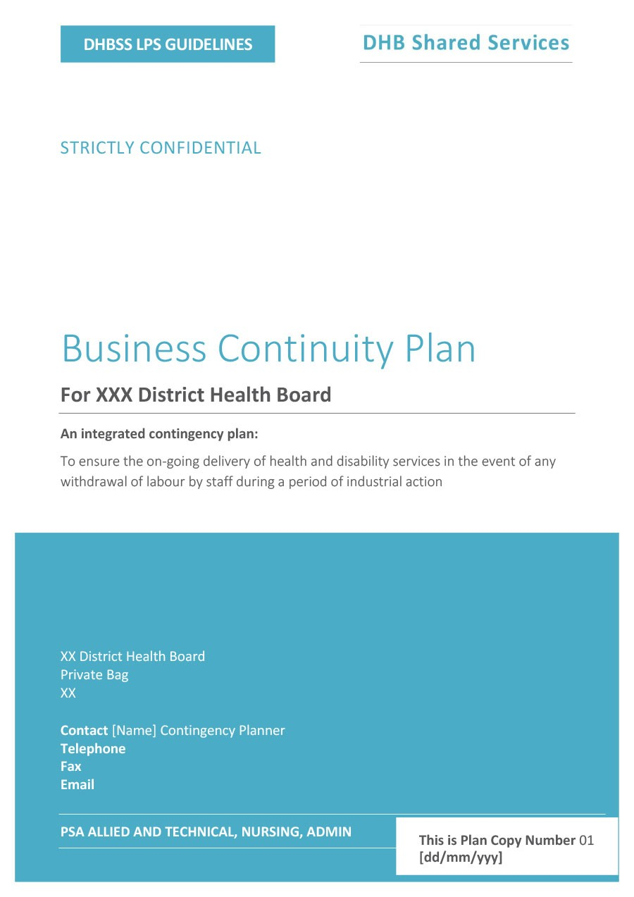 Free contingency plan template 09