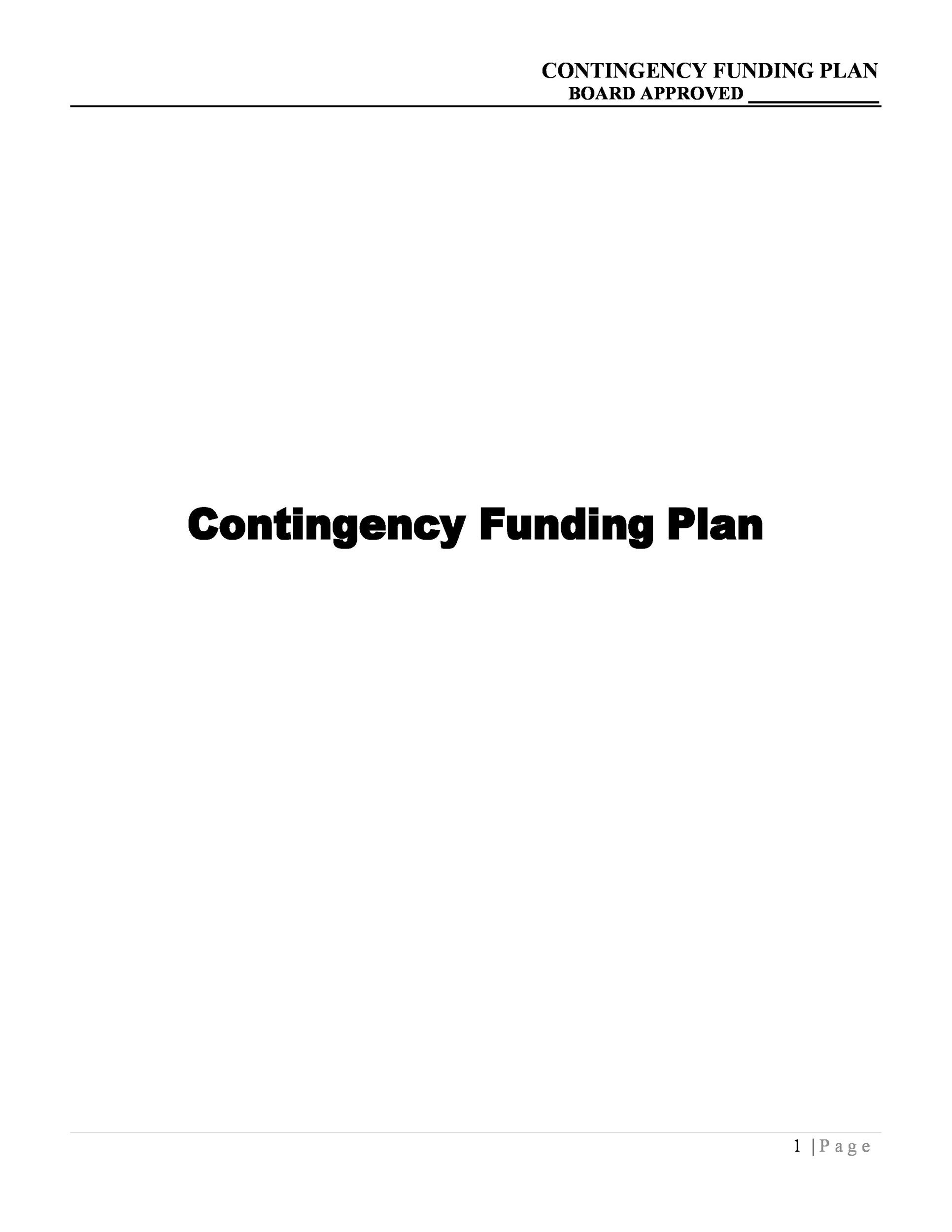 Free contingency plan template 10