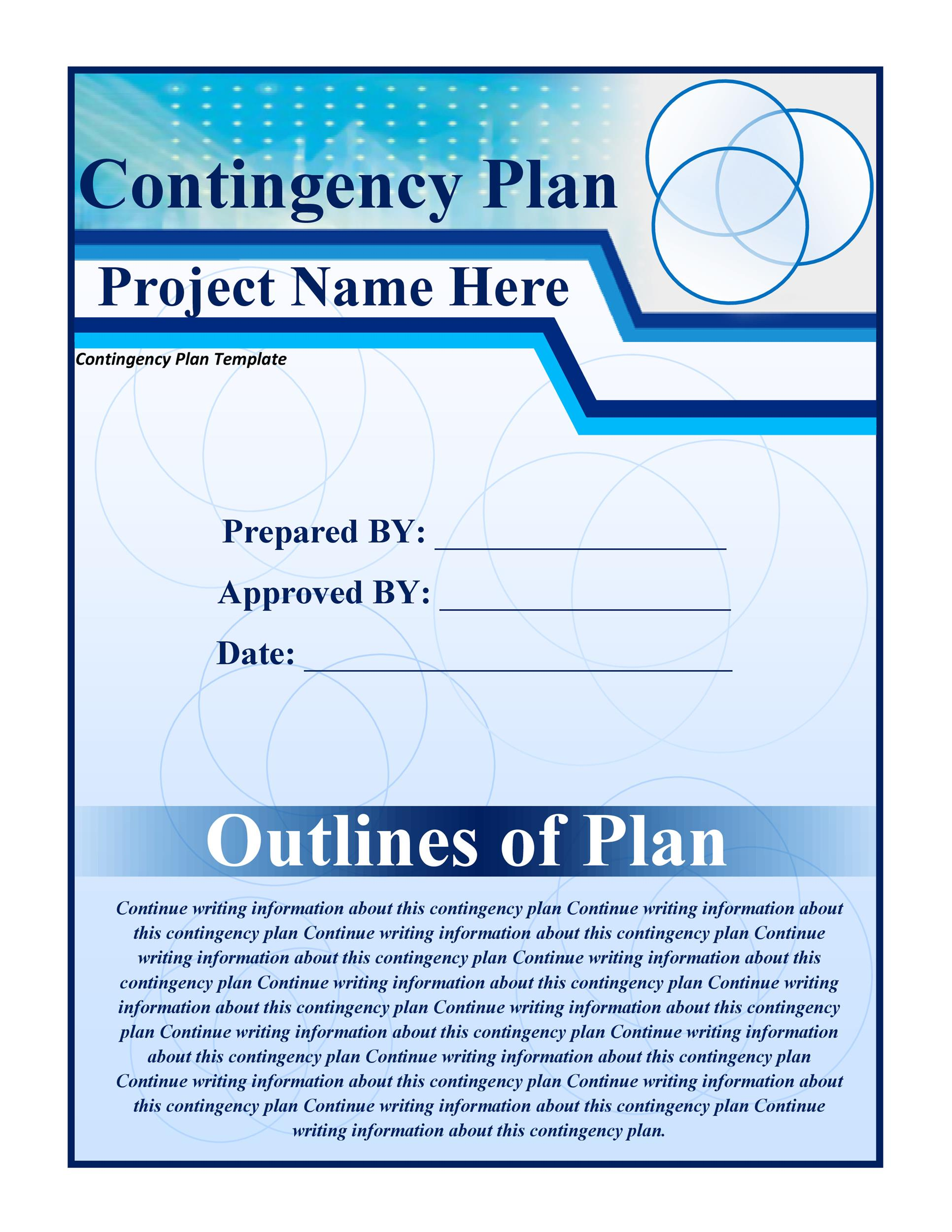 Free contingency plan template 11