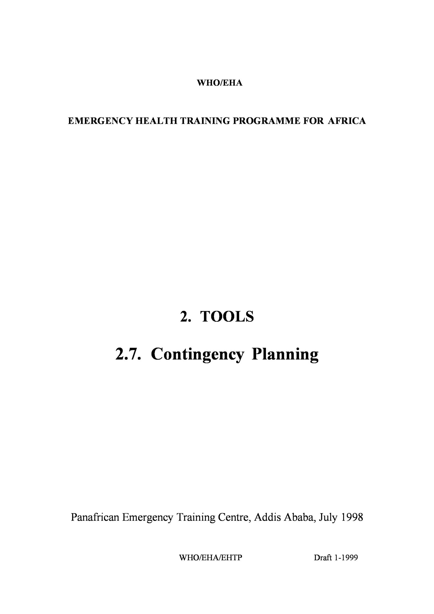 Free contingency plan template 13