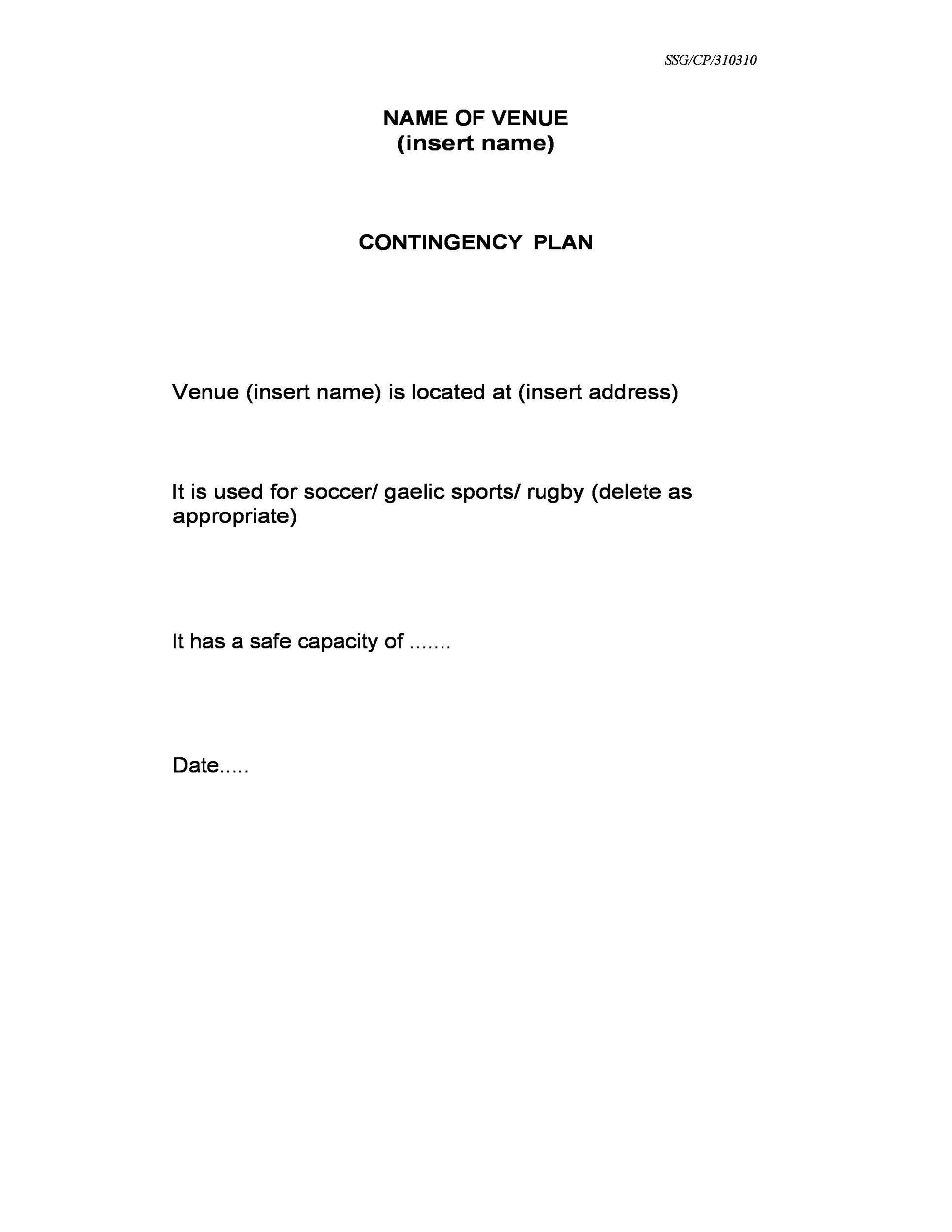 Free contingency plan template 14