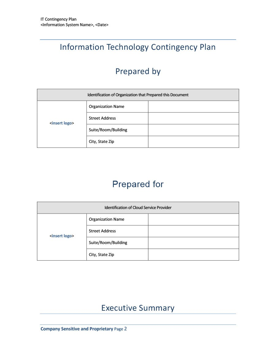 Free contingency plan template 15
