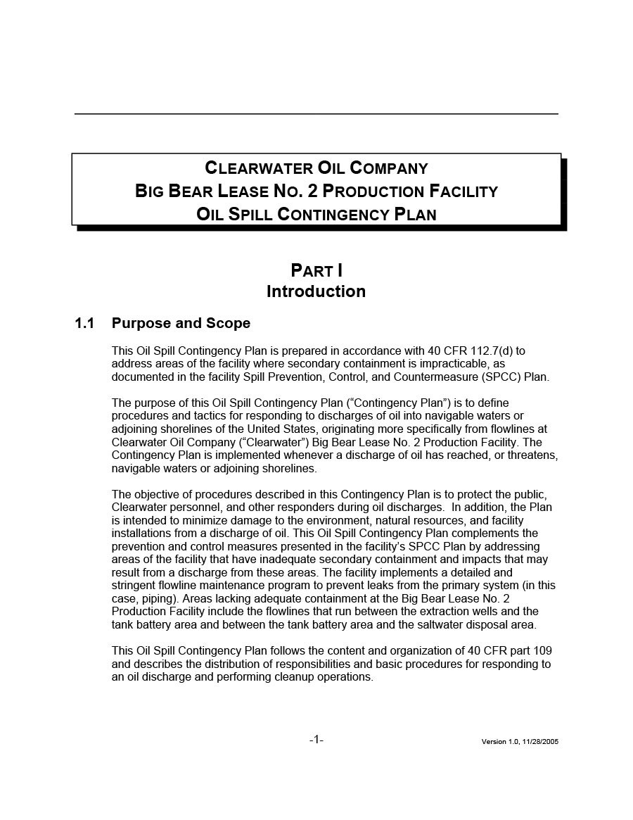 Free contingency plan template 17