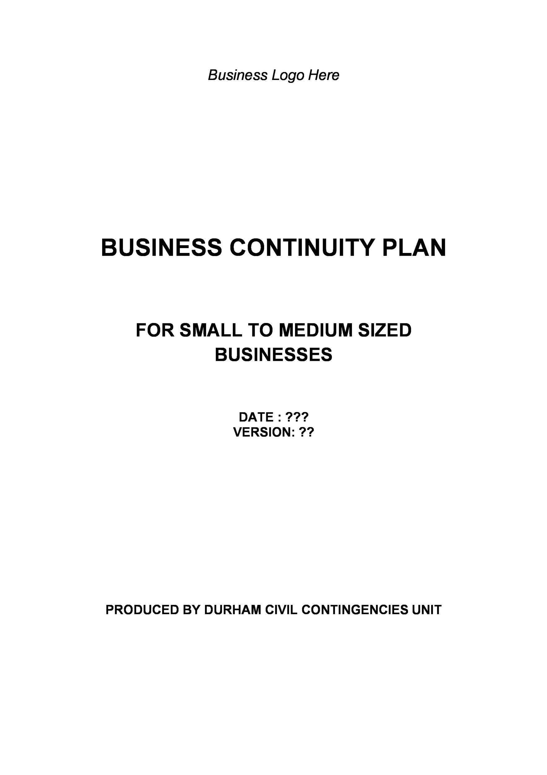 Free contingency plan template 18