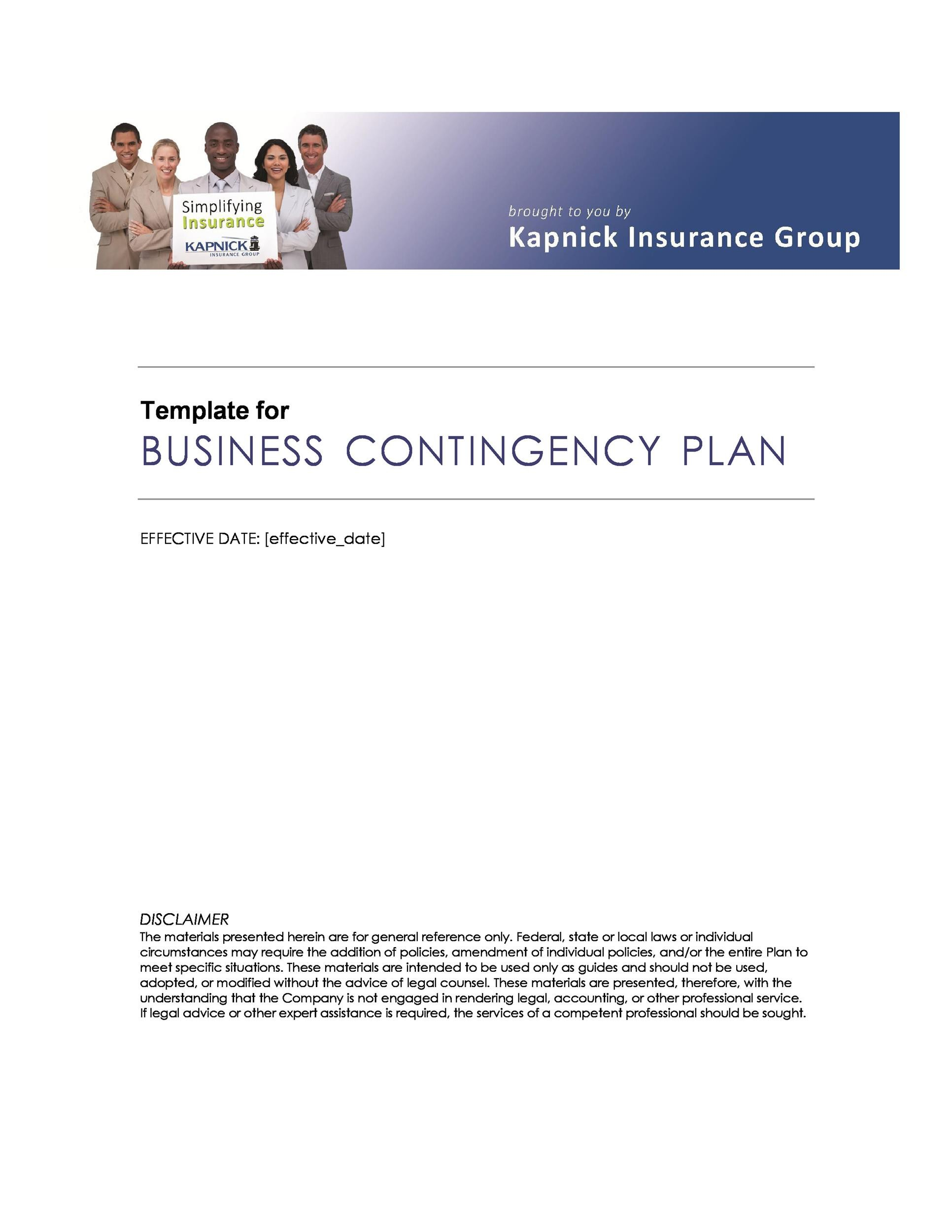 Free contingency plan template 24