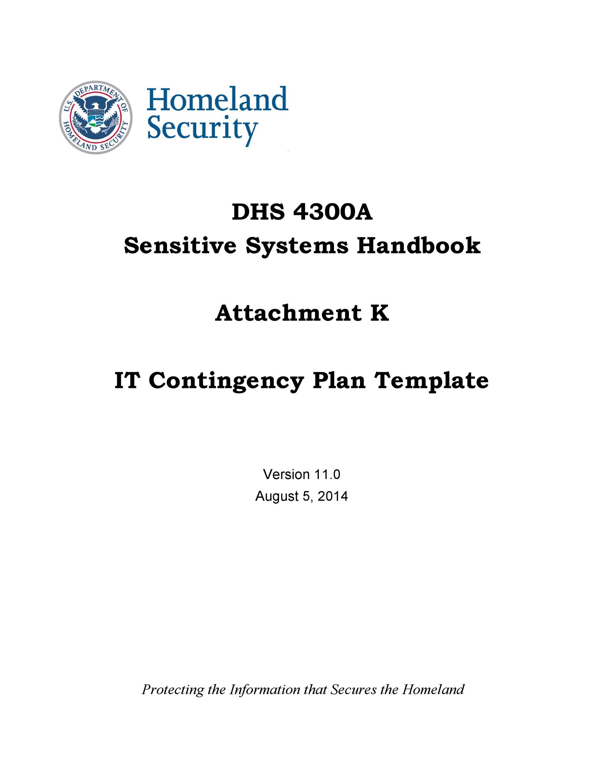 Free contingency plan template 31