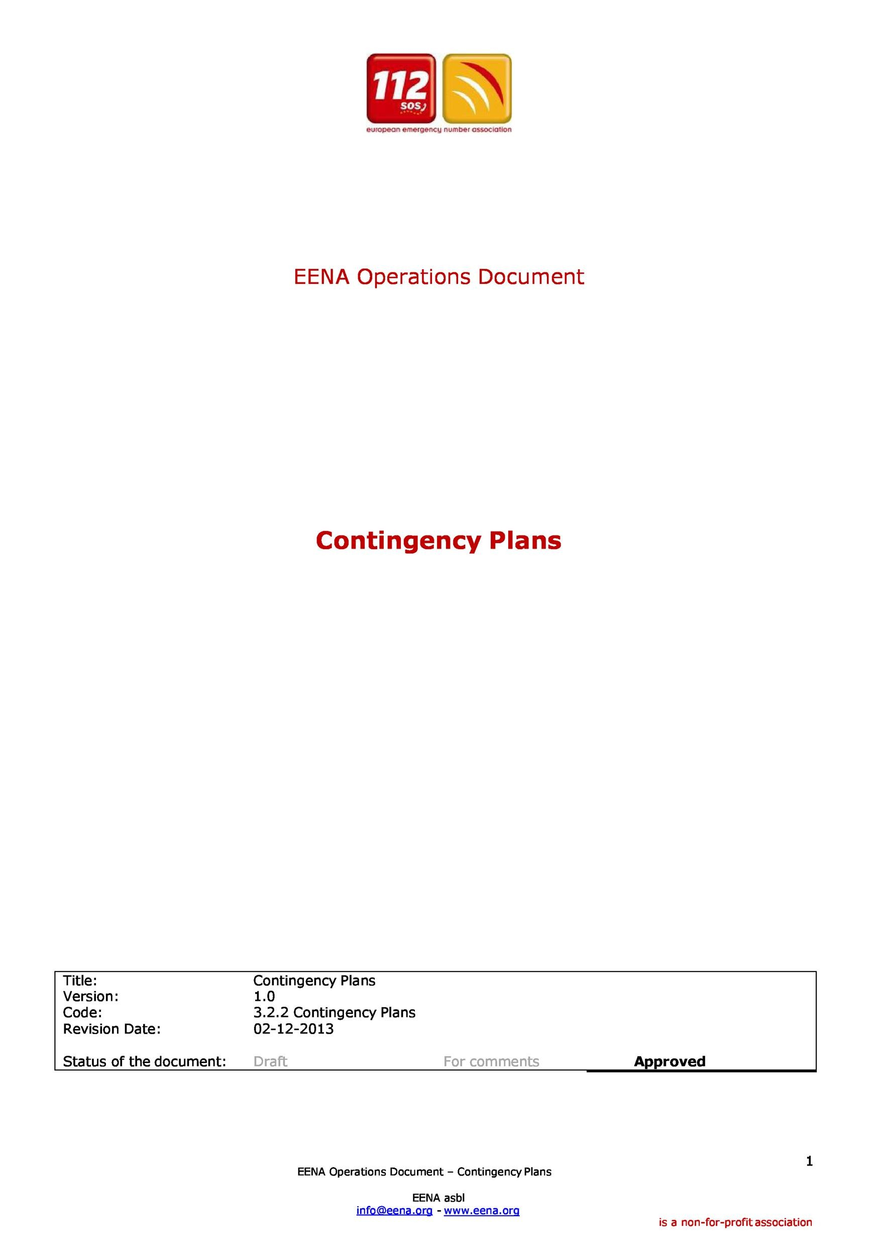 Free contingency plan template 37