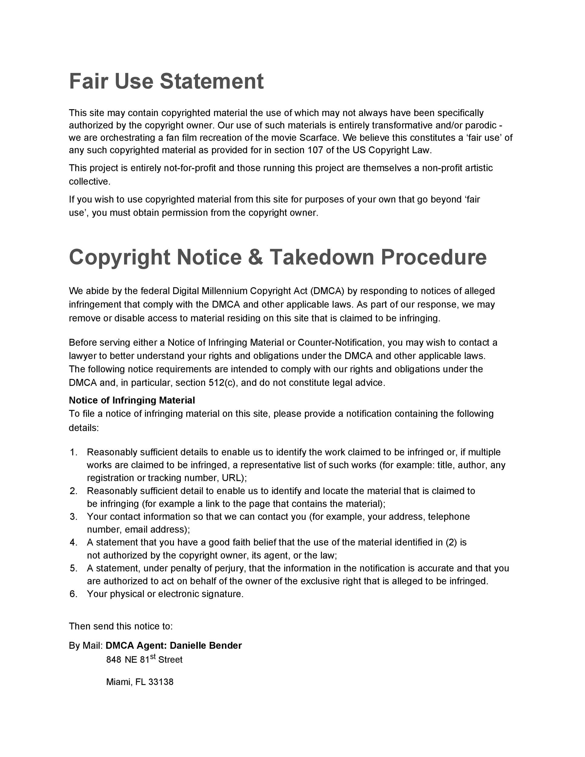 Free copyright notice example 29
