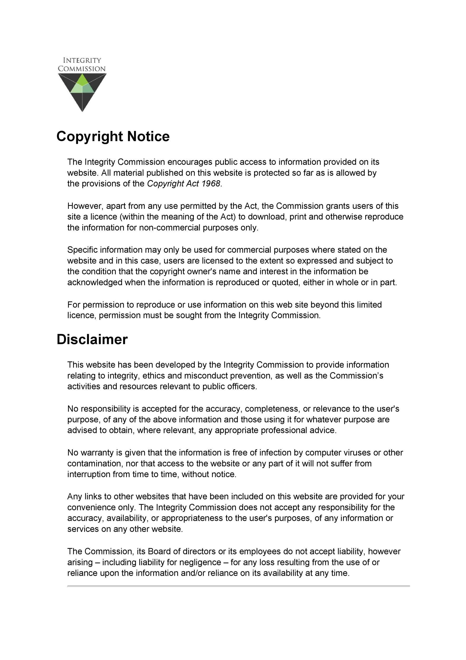 Free copyright notice example 31