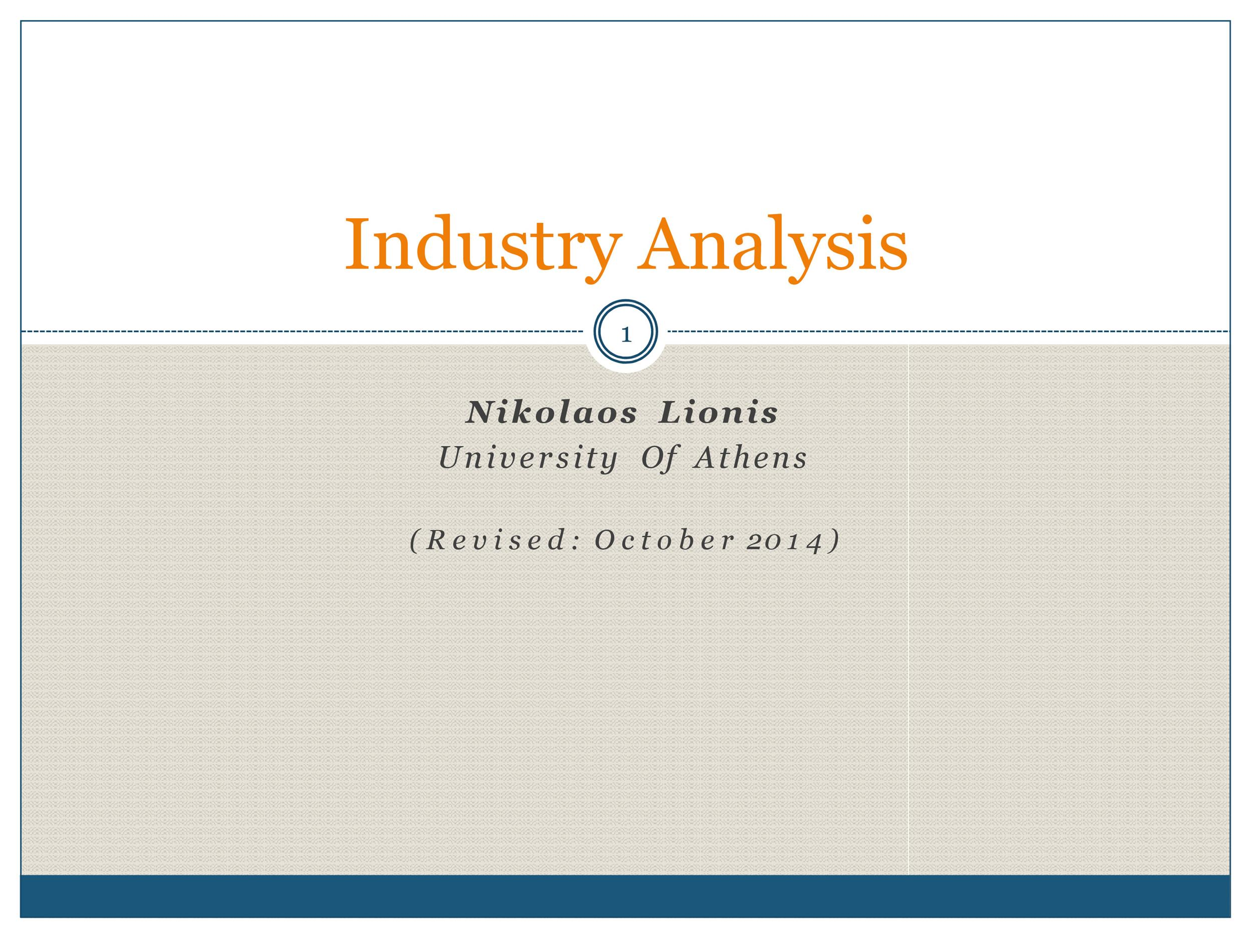 Free industry analysis example 07