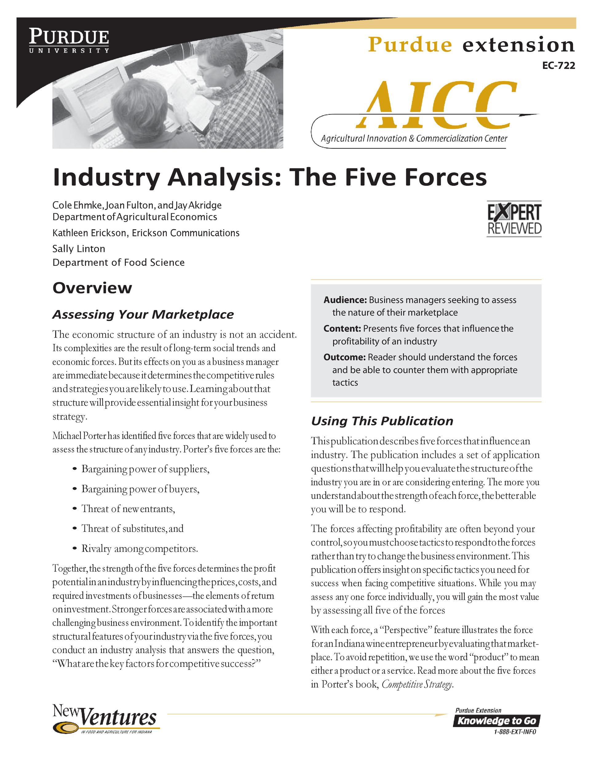 Free industry analysis example 16