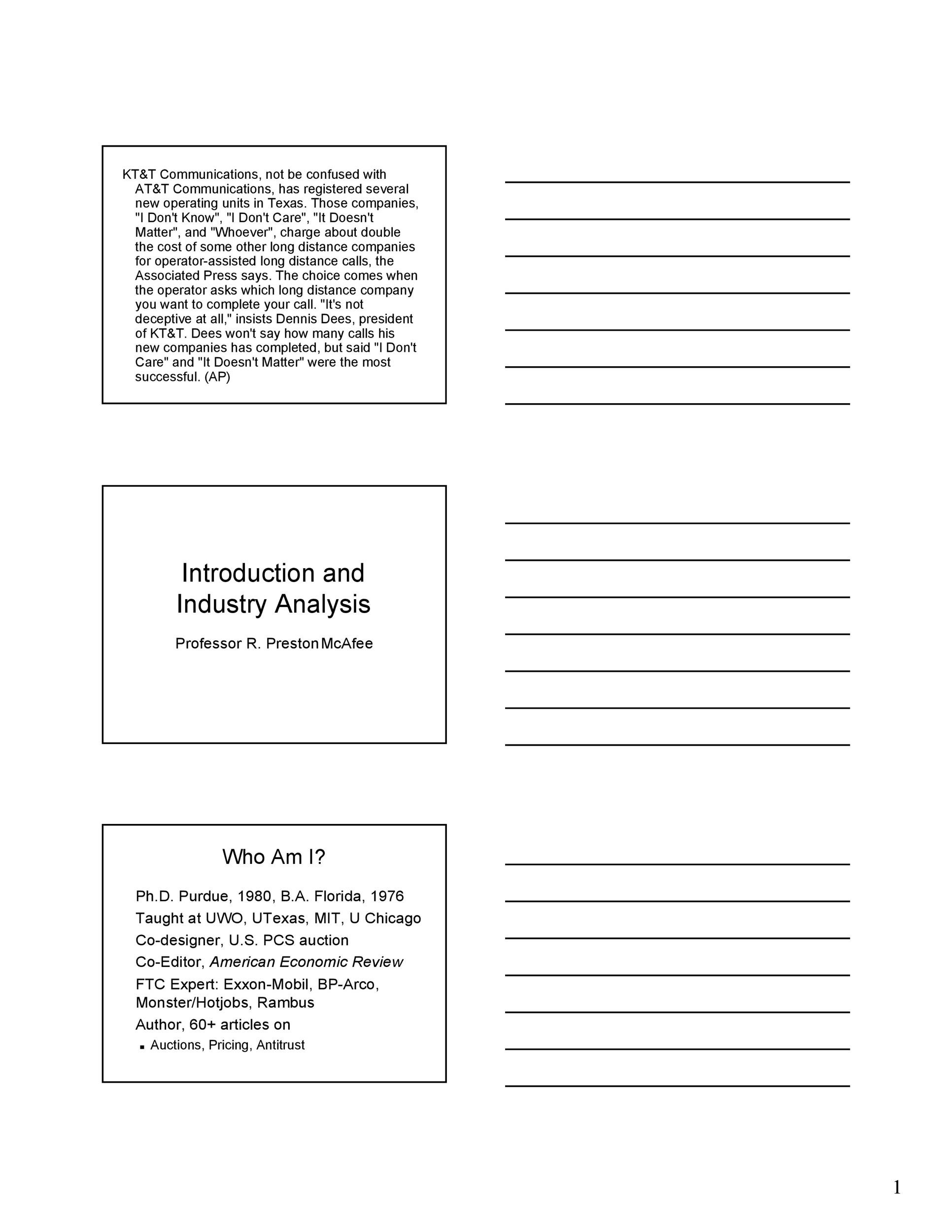 Free industry analysis example 21