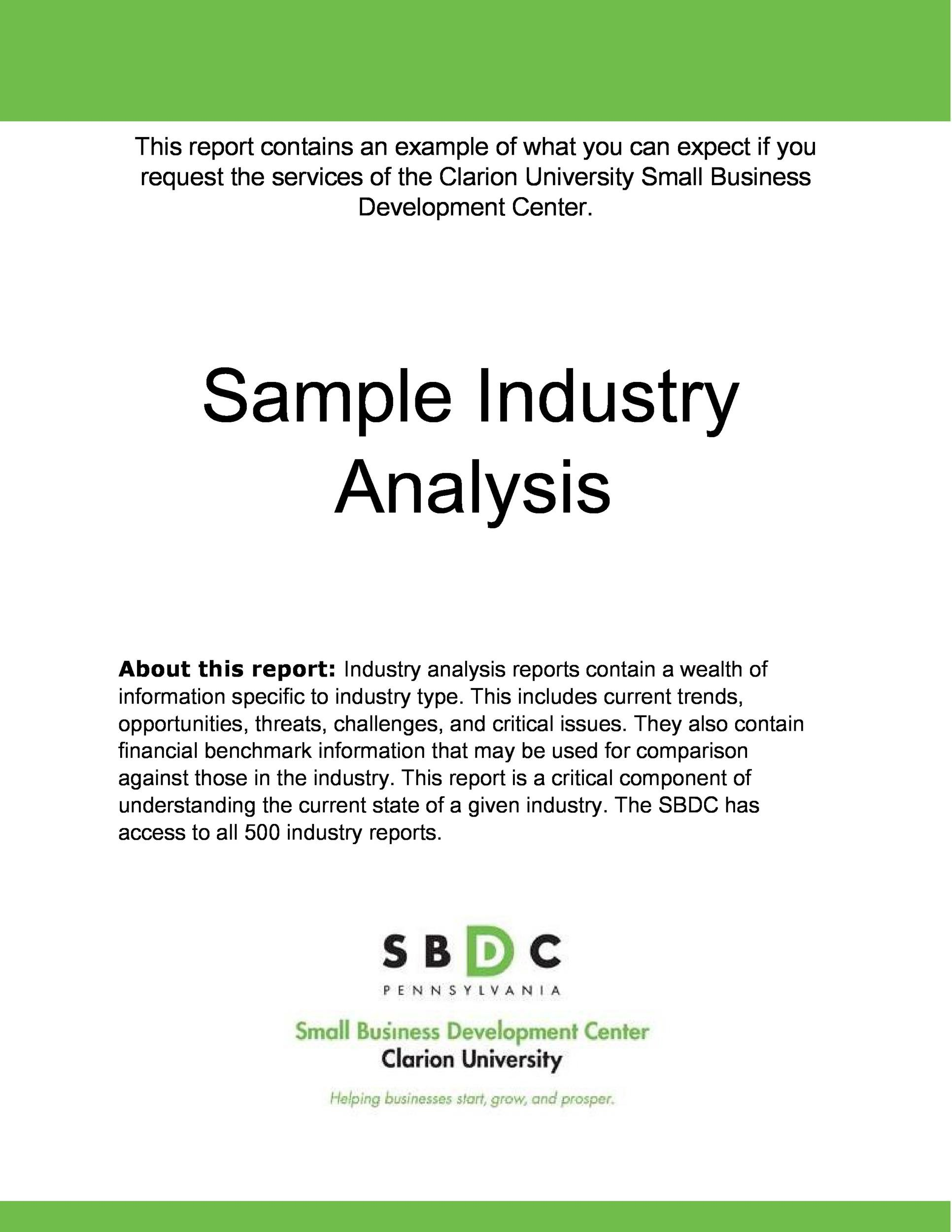 Free industry analysis example 32