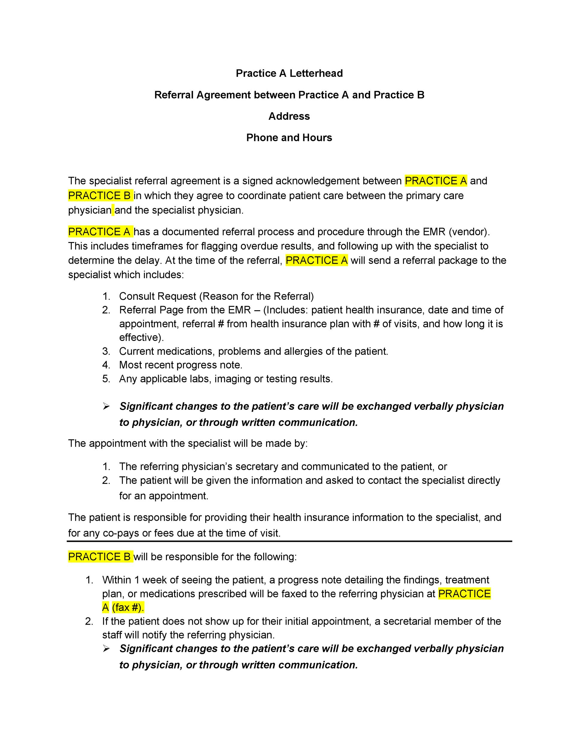 Free referral agreement template 02