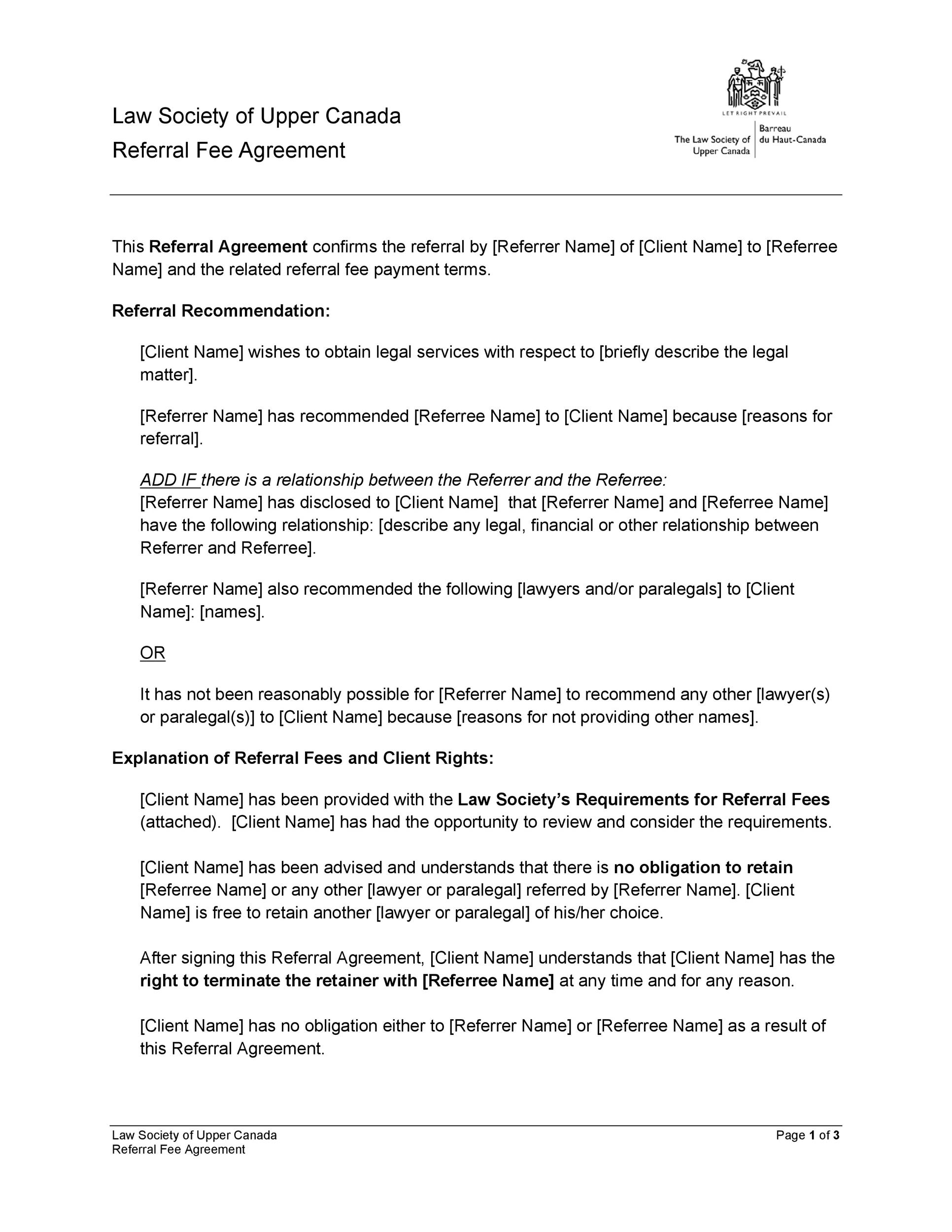 Free referral agreement template 03