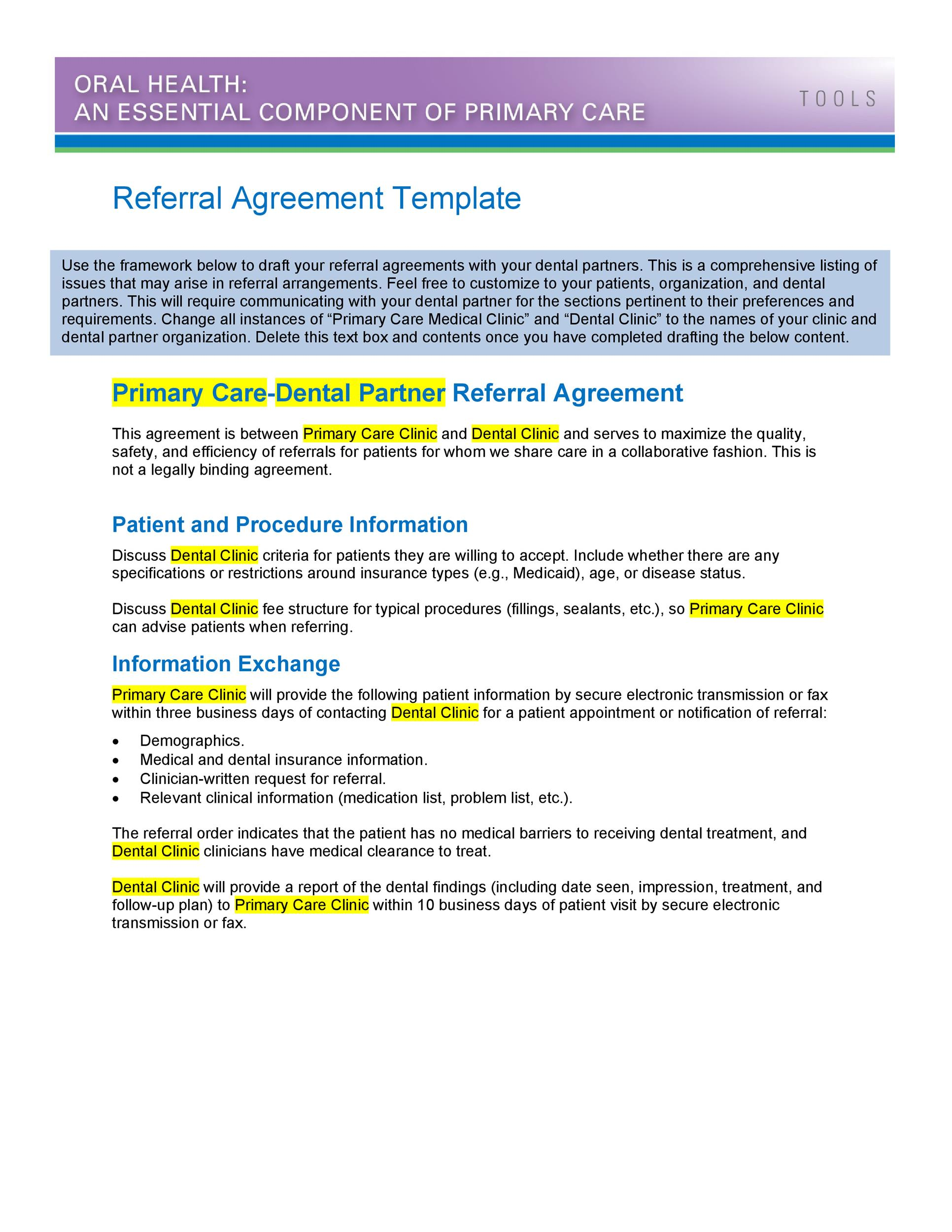 Free referral agreement template 12
