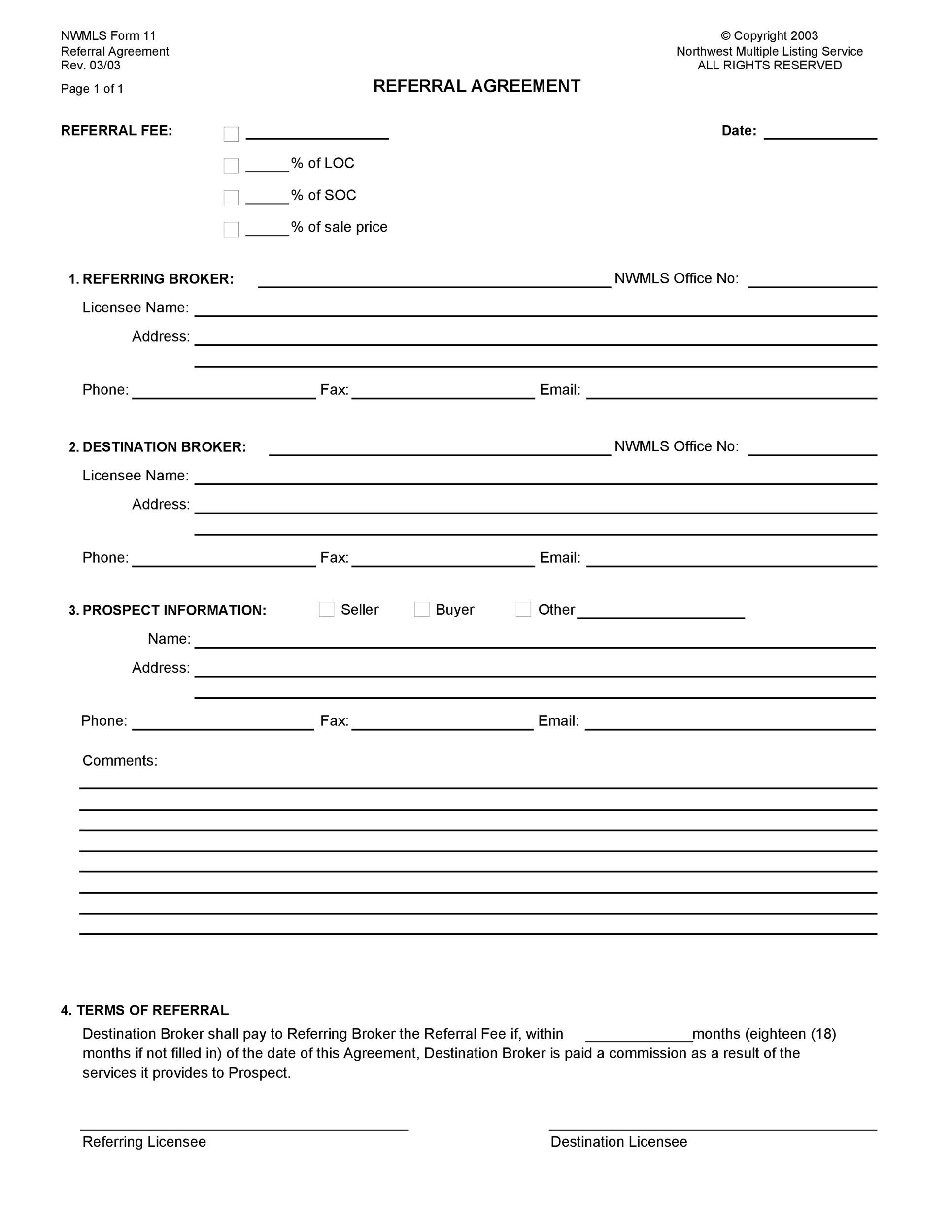 Free referral agreement template 26