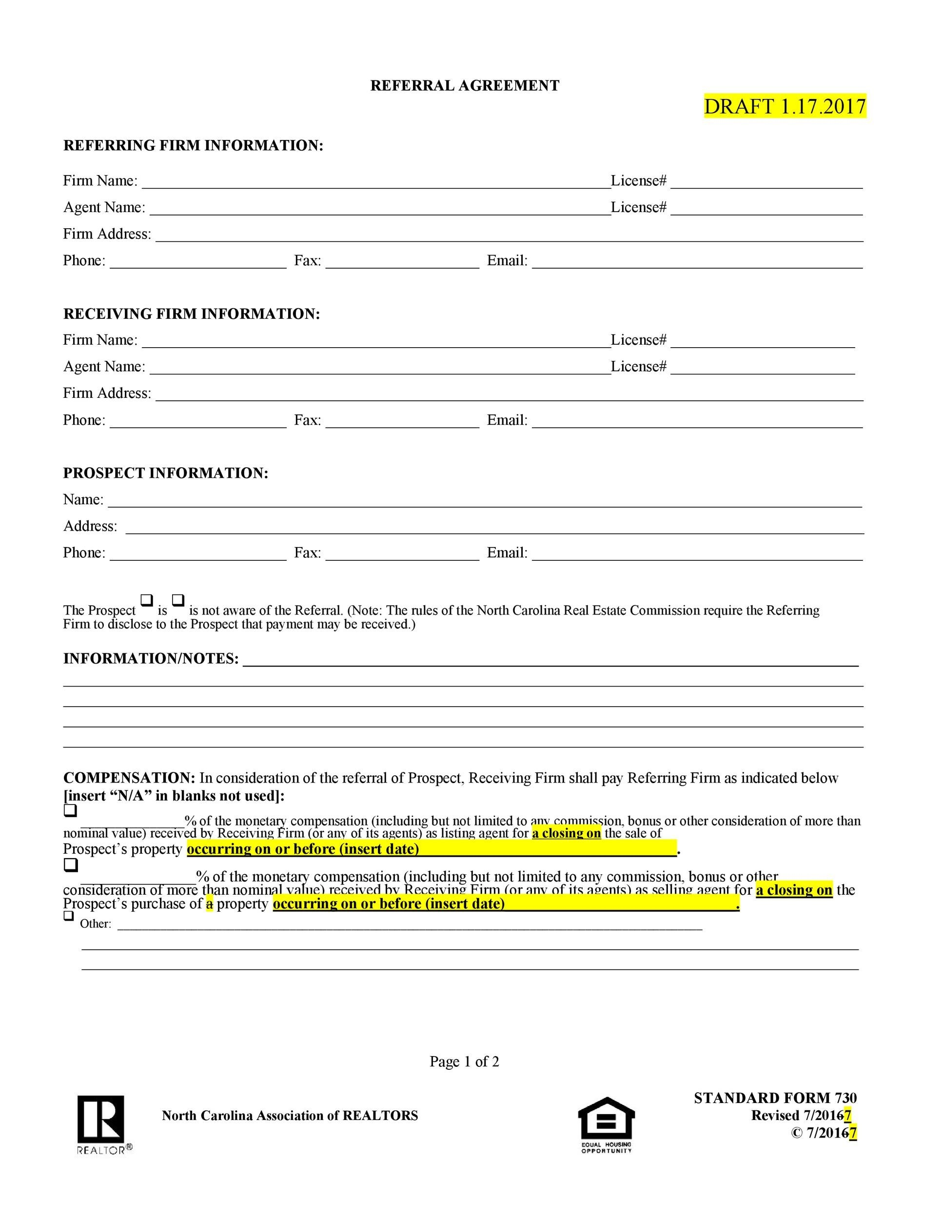 Free referral agreement template 27