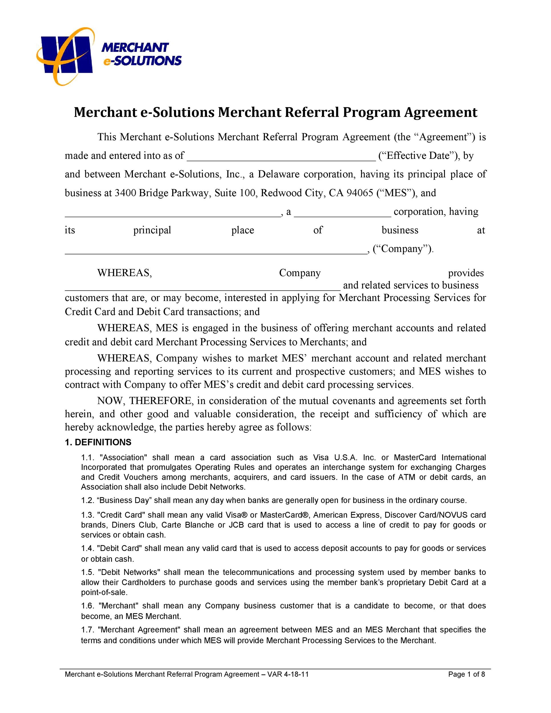 Free referral agreement template 34
