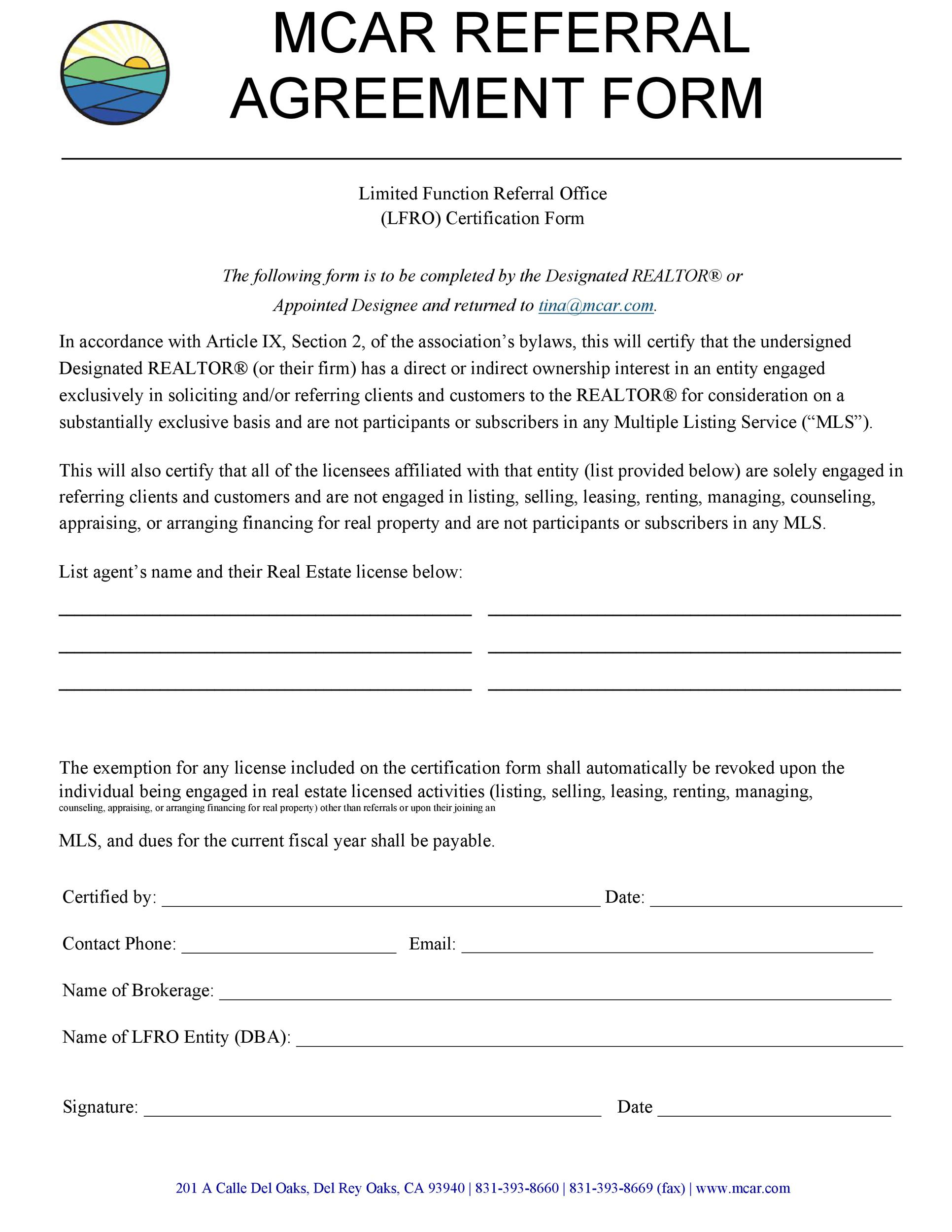 Free referral agreement template 36