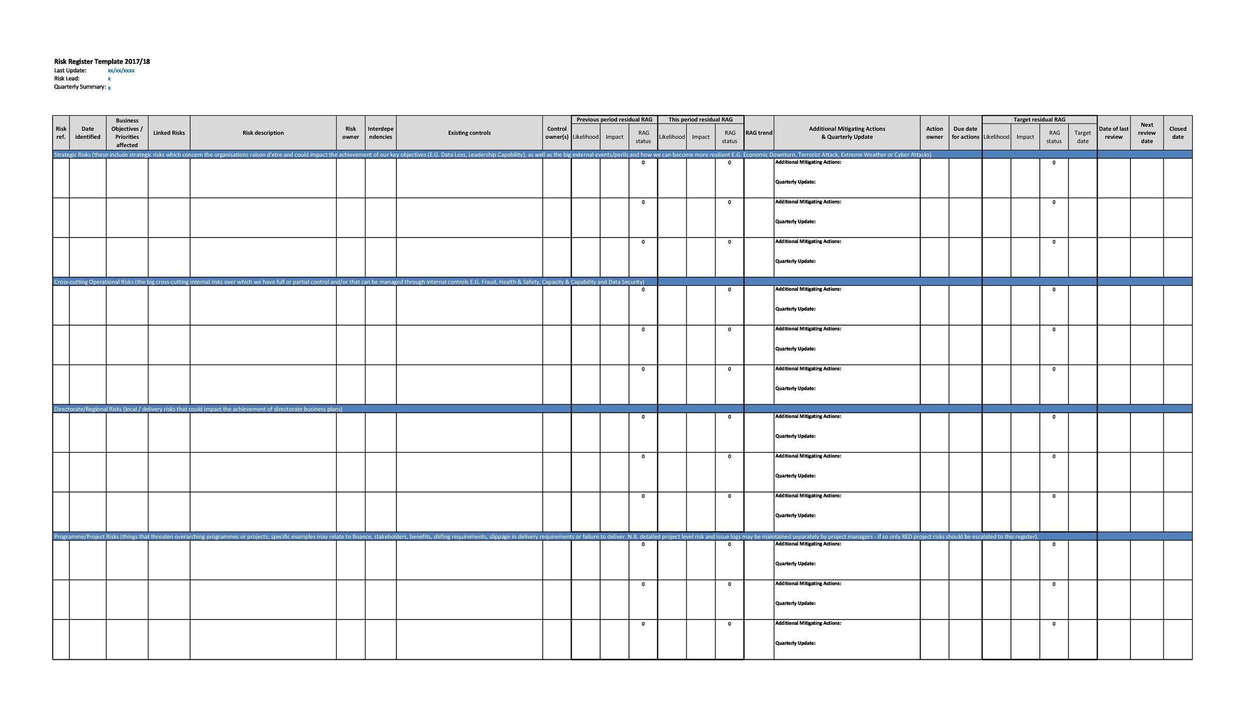 Free risk register template 11