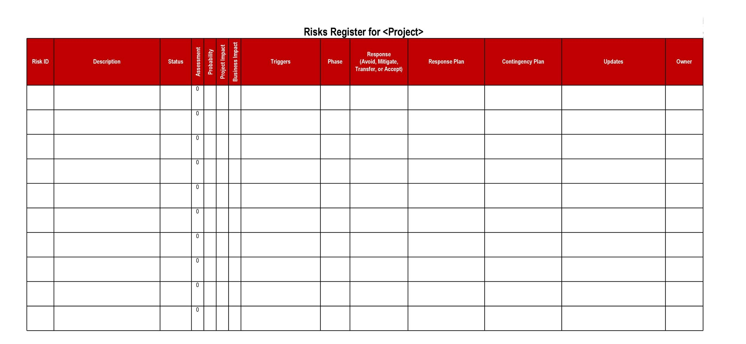 Free risk register template 18