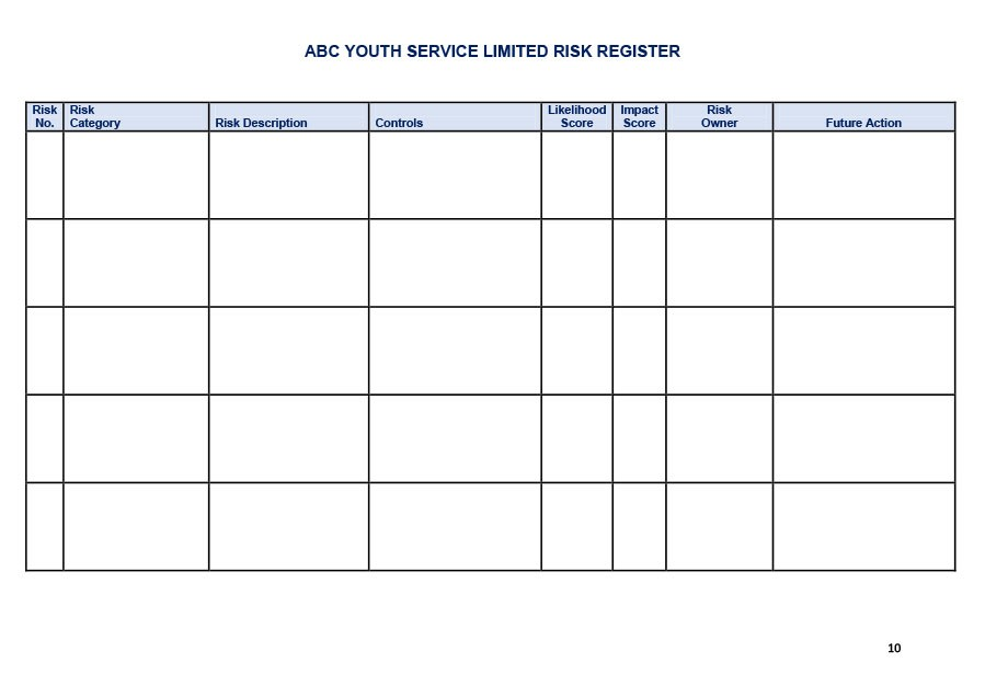 Free risk register template 31