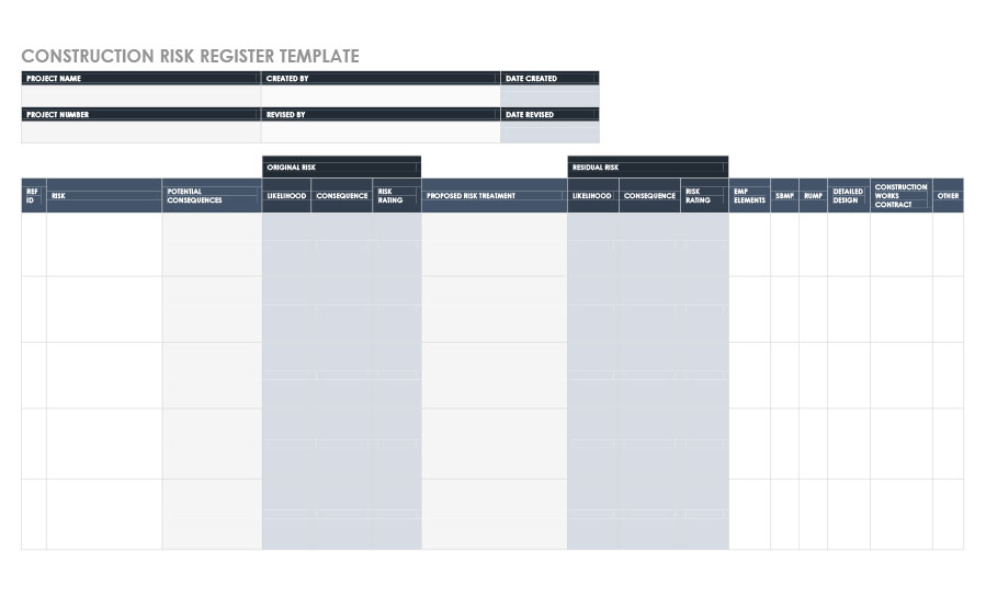 Free risk register template 40