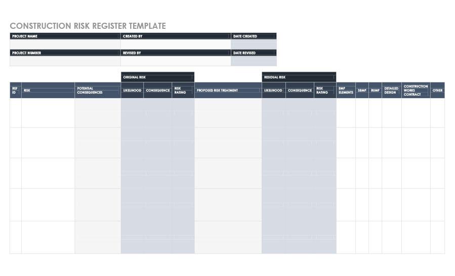 Free risk register template 40
