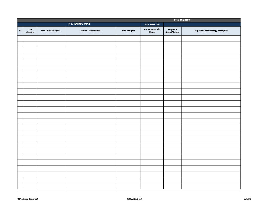 Free risk register template 51