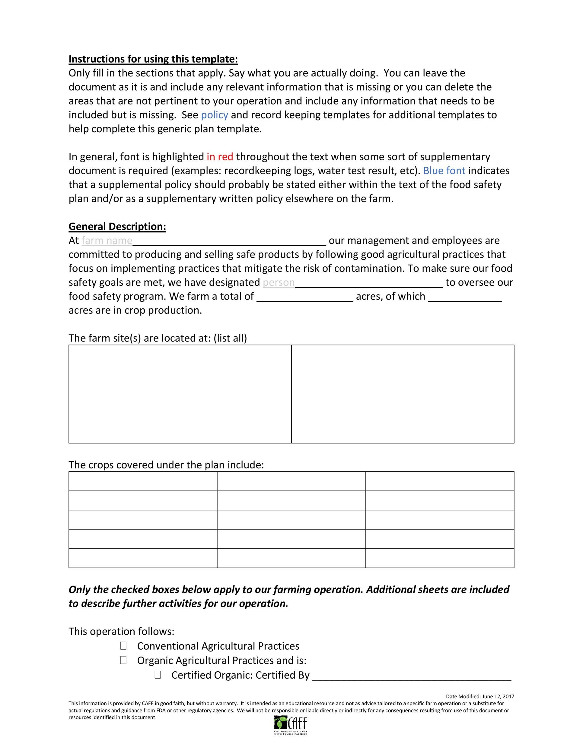 Free safety plan template 03