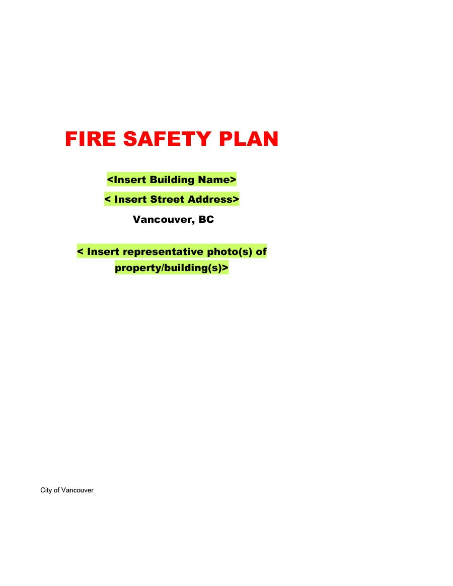Free safety plan template 09