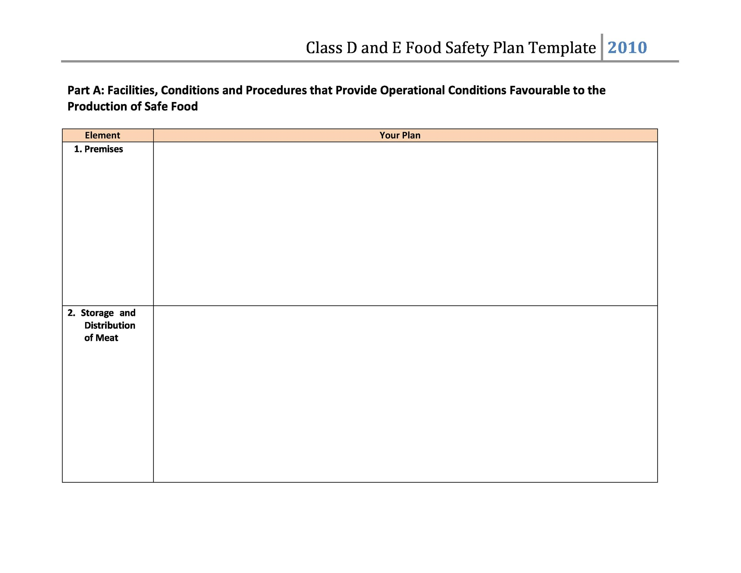 Free safety plan template 18