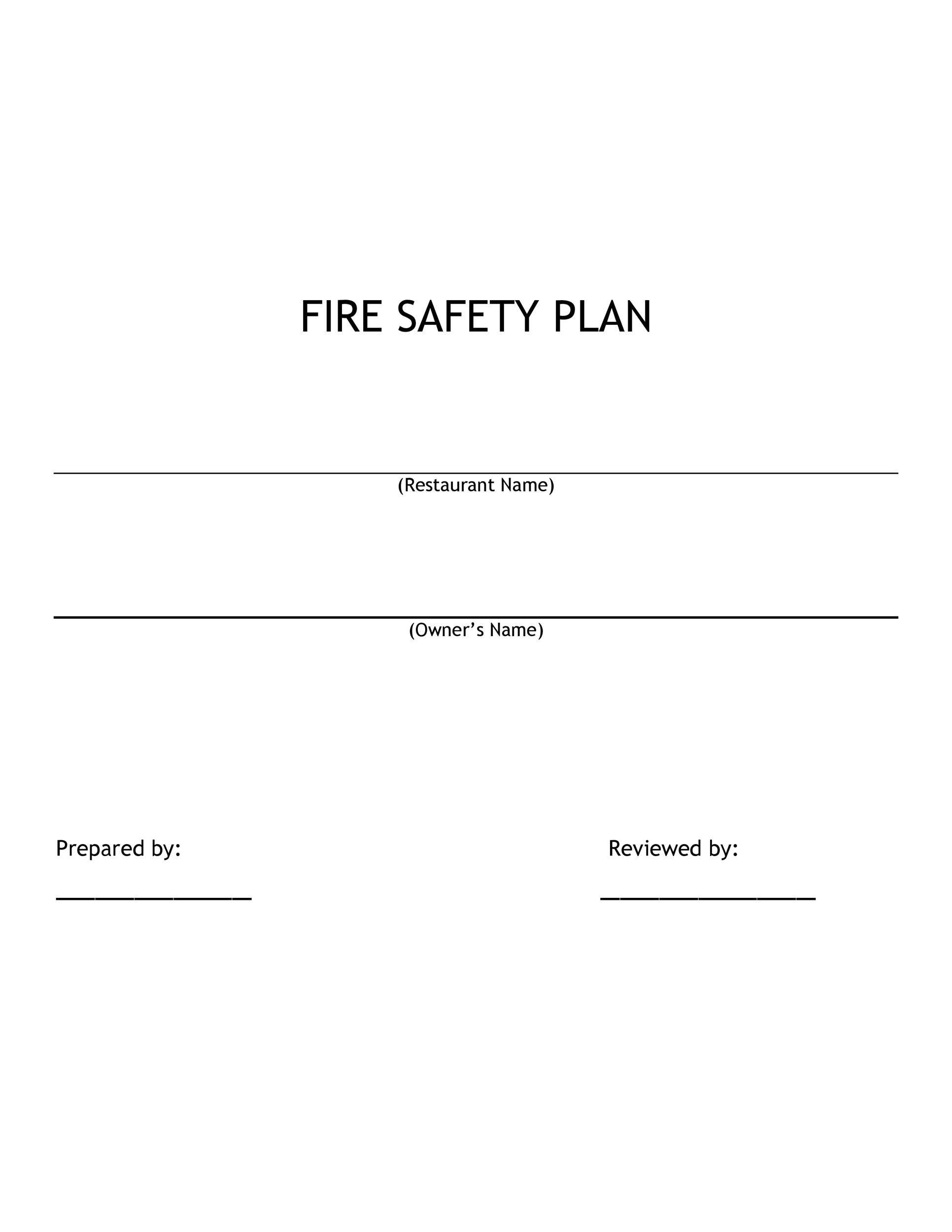 Free safety plan template 19