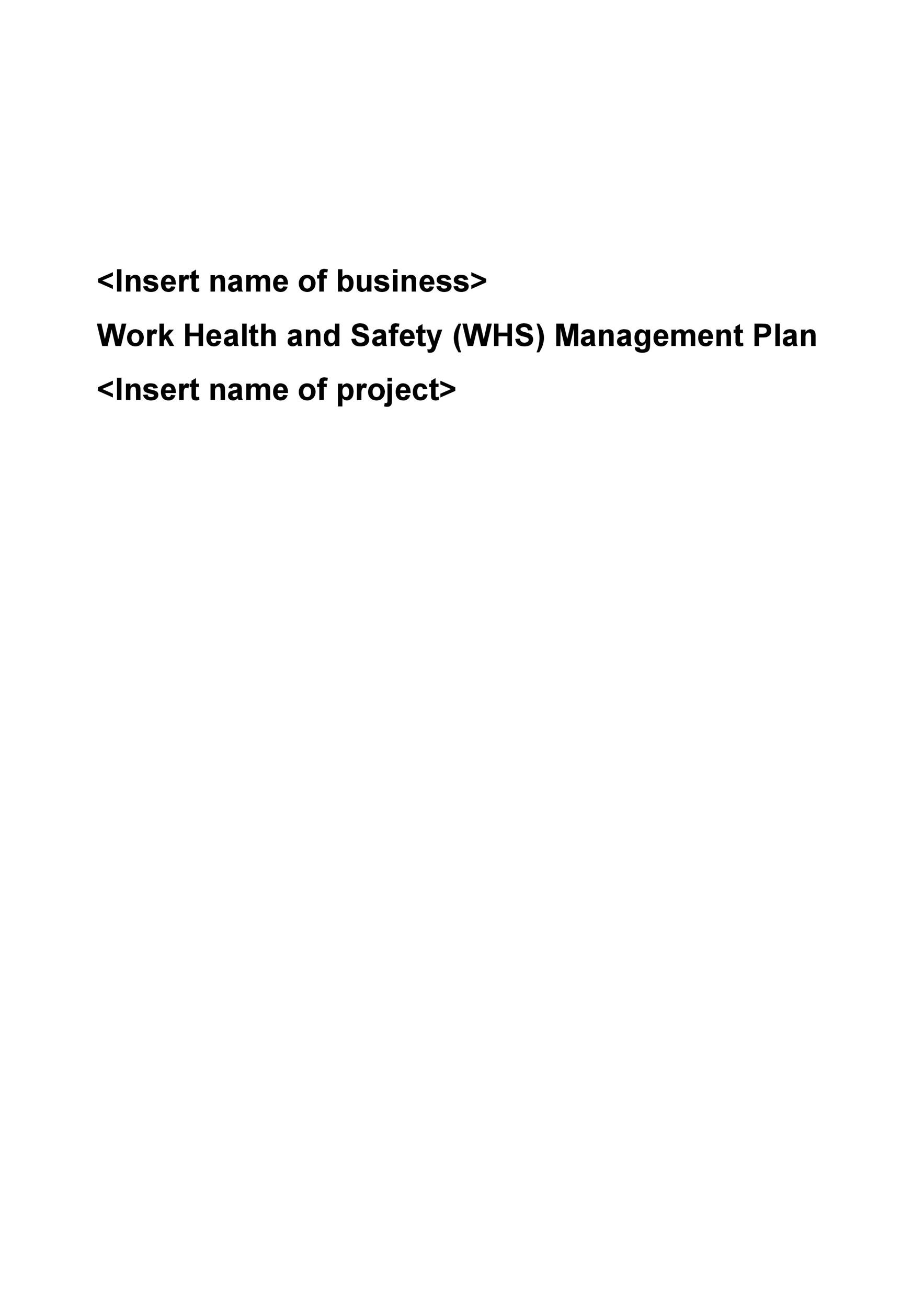 Free safety plan template 27