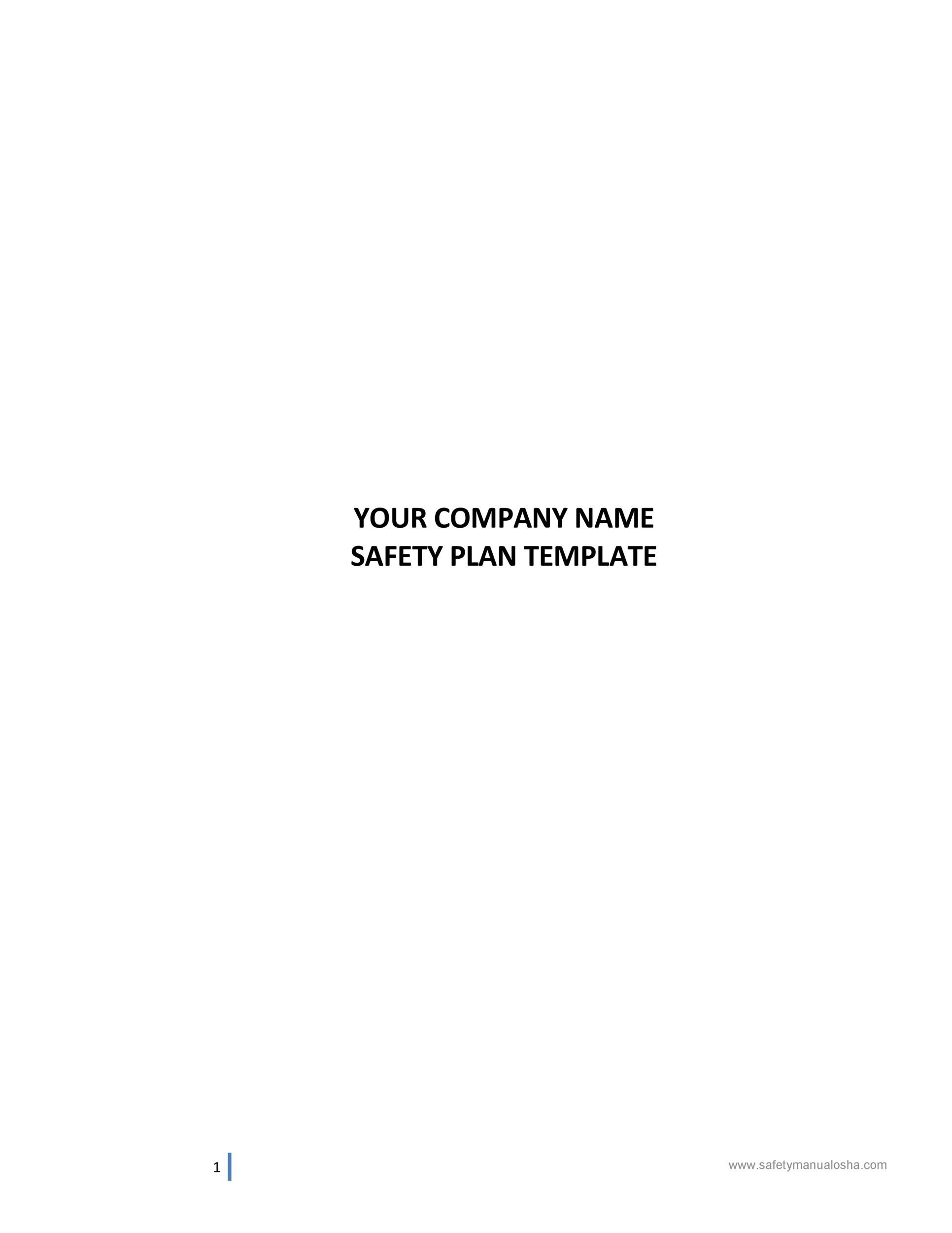 Free safety plan template 35