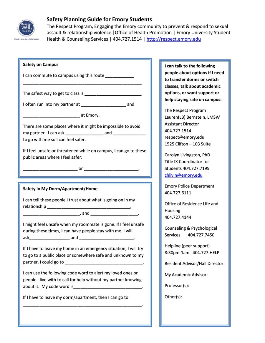 Free safety plan template 41