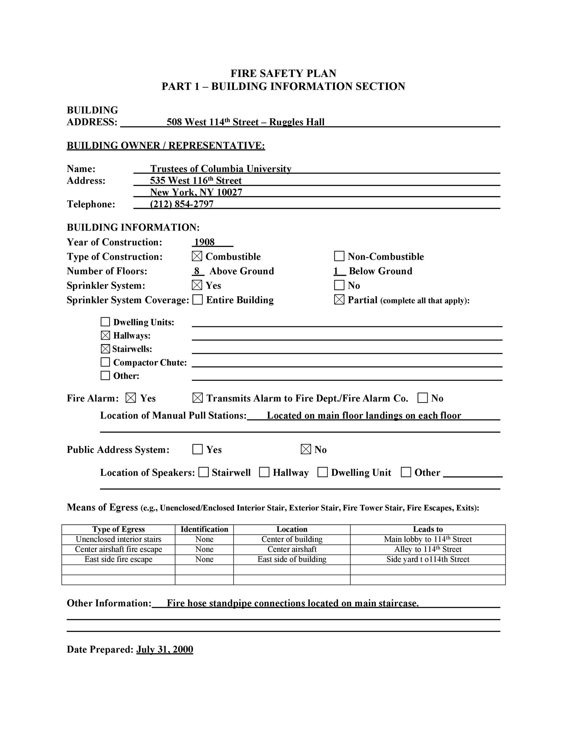 Free safety plan template 45